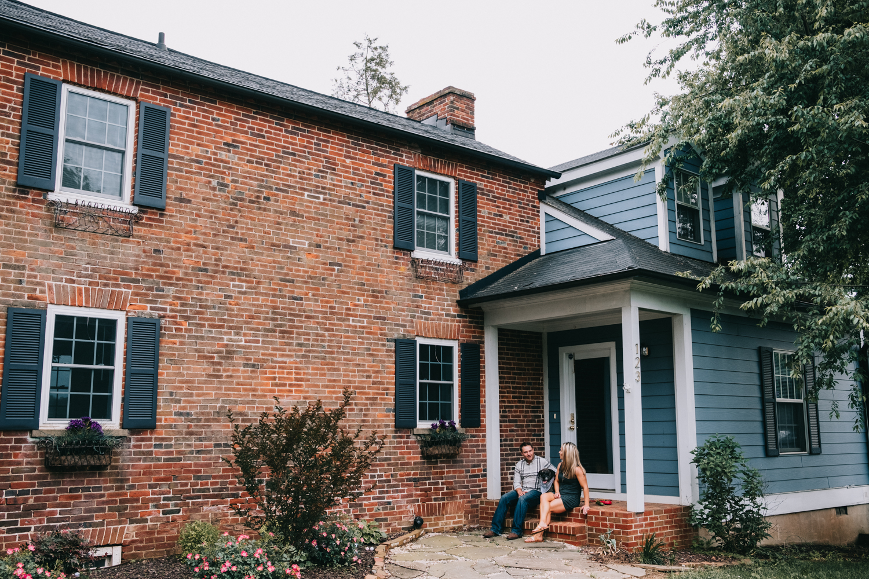 historic leesburg virginia home engagement