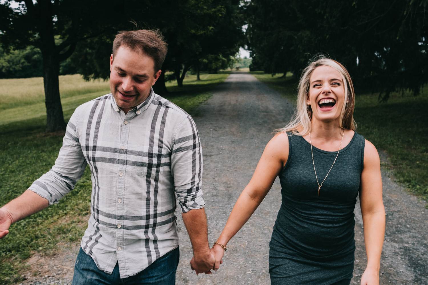 laughing in love morven park engagement photos