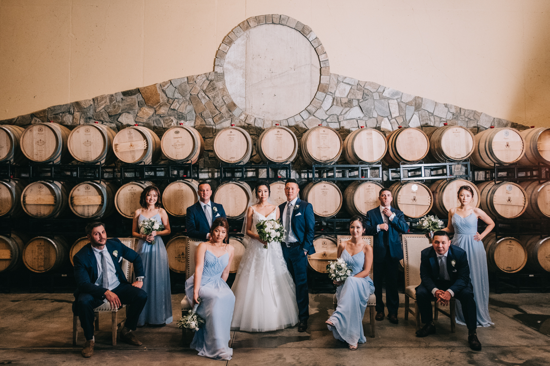 blue valley vineyard wedding classy vanity fair style wedding portrait