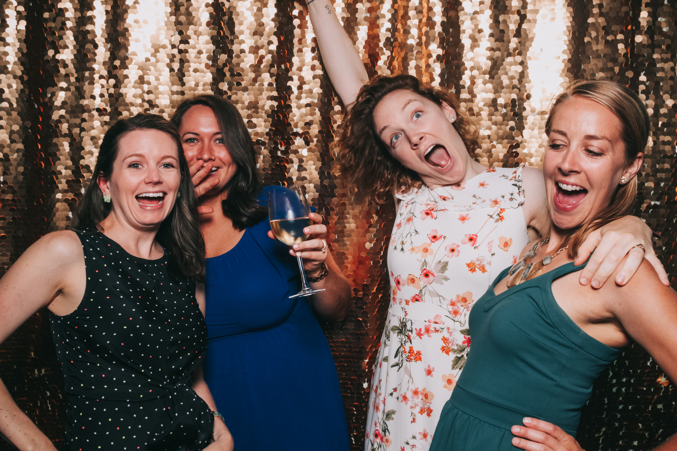 Getting Crazy in open air Baltimore wedding photo booth
