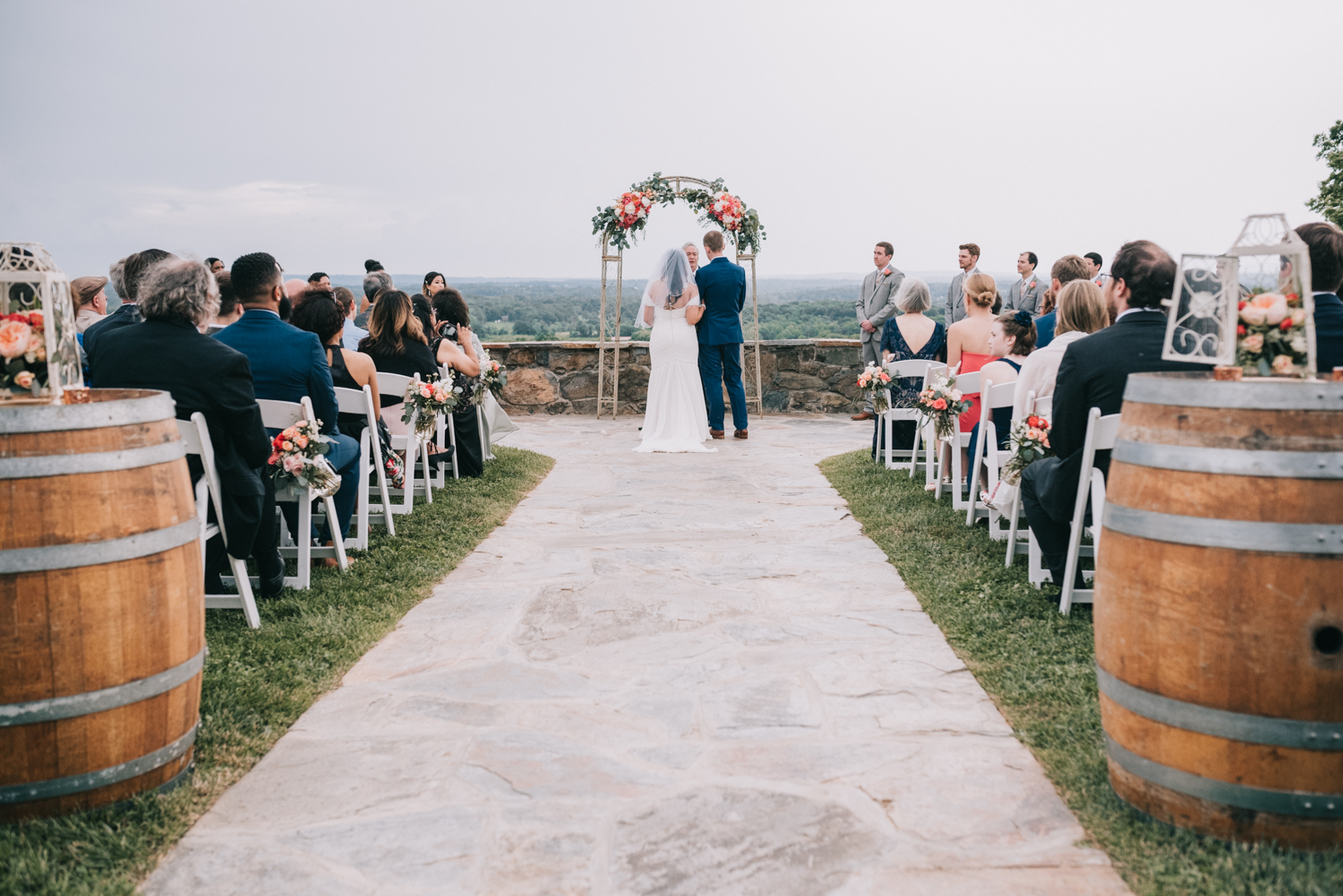 wedding ceremony at the stables at bluemont vineyard