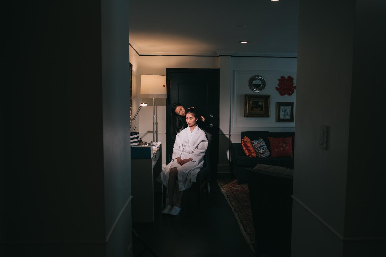 Washington DC Phoenix Park Hotel Bride Getting Ready