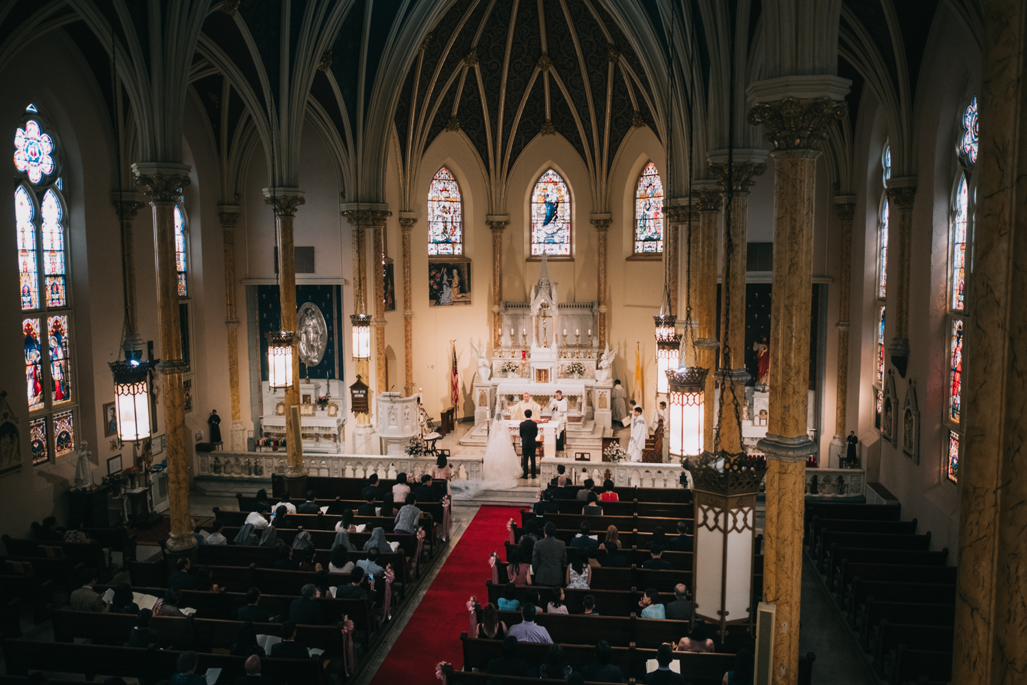 Catholic Wedding at St Mary Mother of God Church in DC