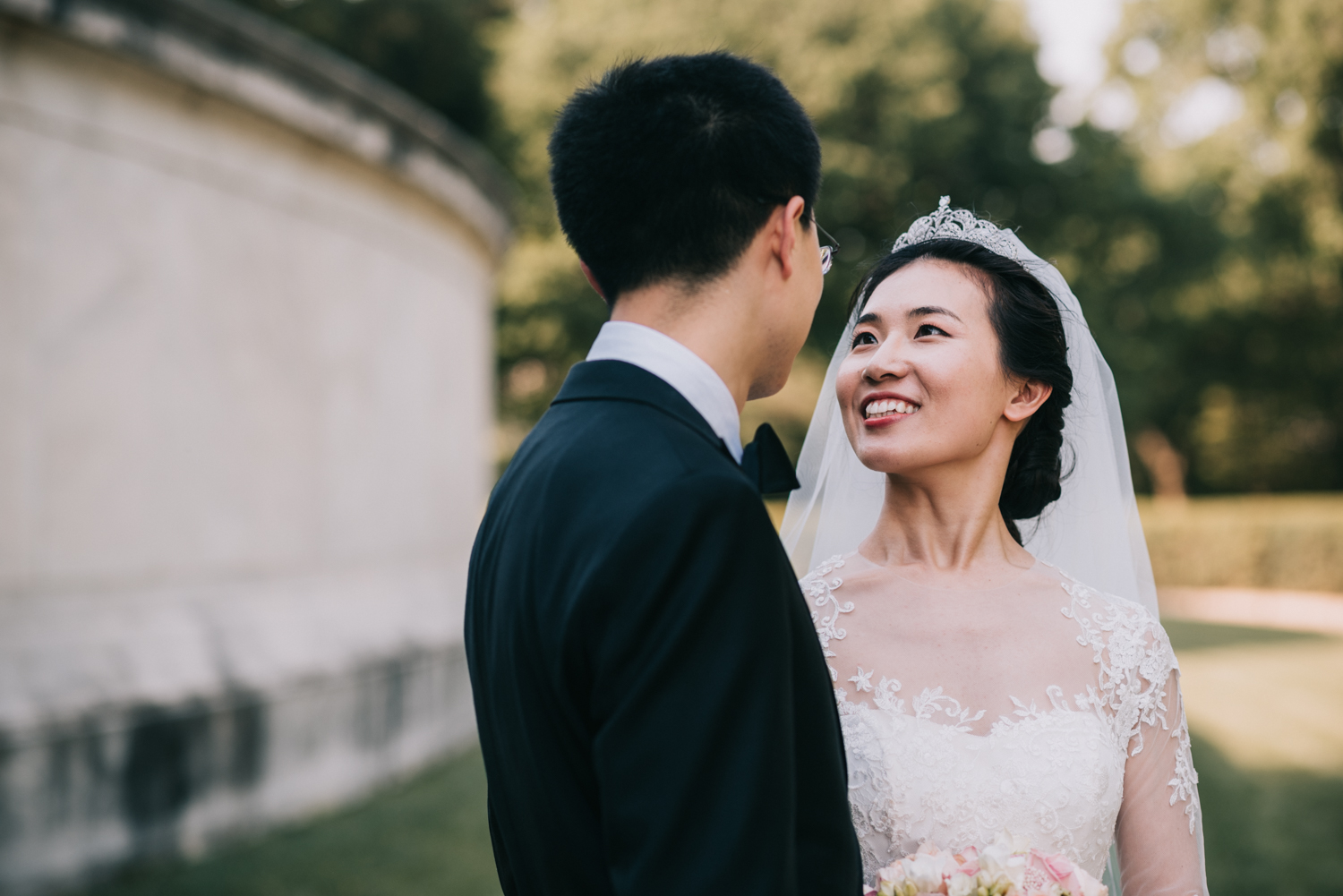 Chinese couple wedding portraits at the Jefferson in DC