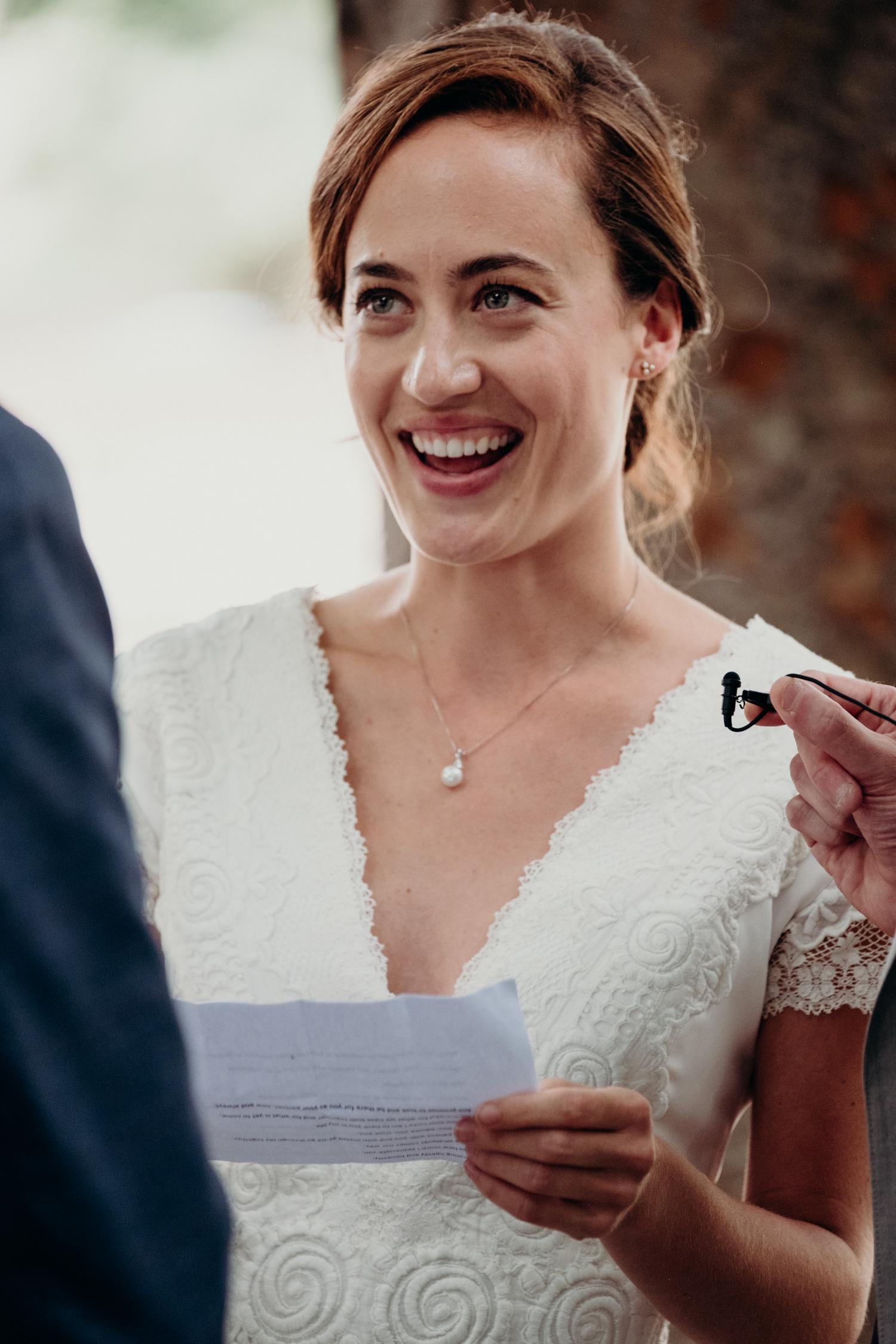 Meridian Hill Park wedding vow exchange