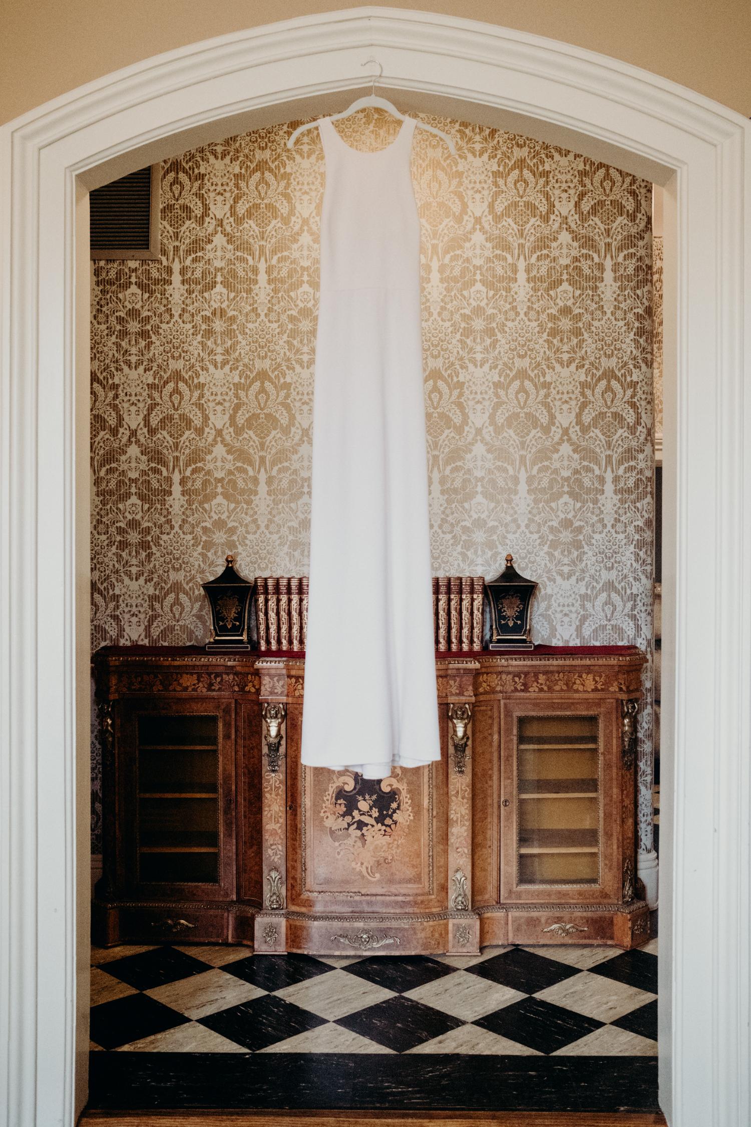 tudor place washington dc wedding dress detail photo