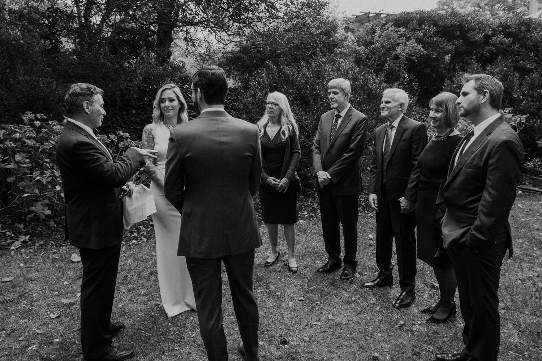 small intimate washington dc wedding ceremony