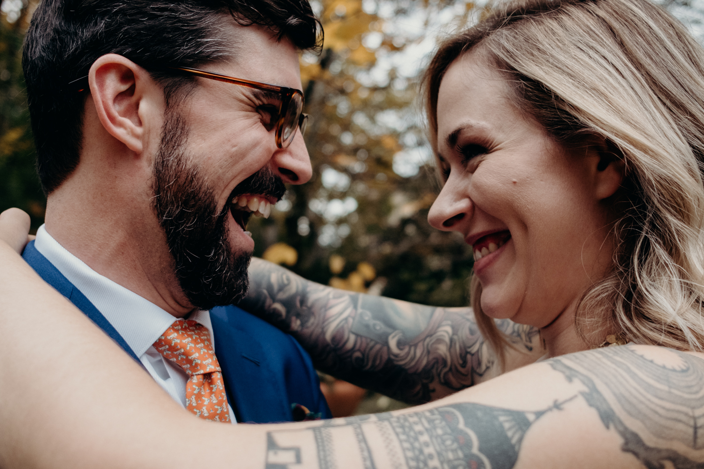 wedding couple laughing dc wedding