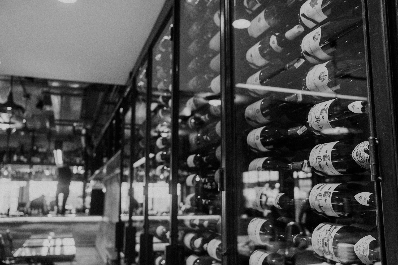 masseria restaurant wine wall