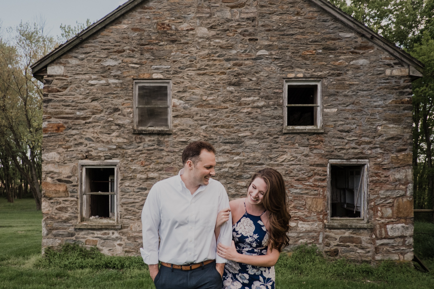 Vanish brewery old house engagement session