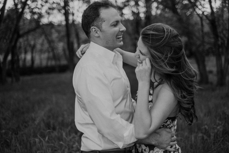 Vanish brewery engagement couple laughing