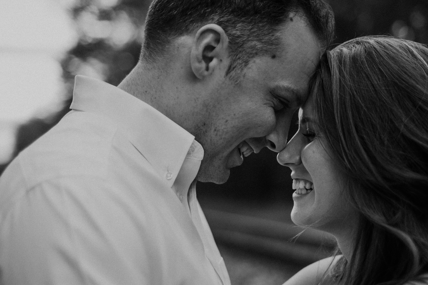 Engagement session in Maryland with romantic happy couple