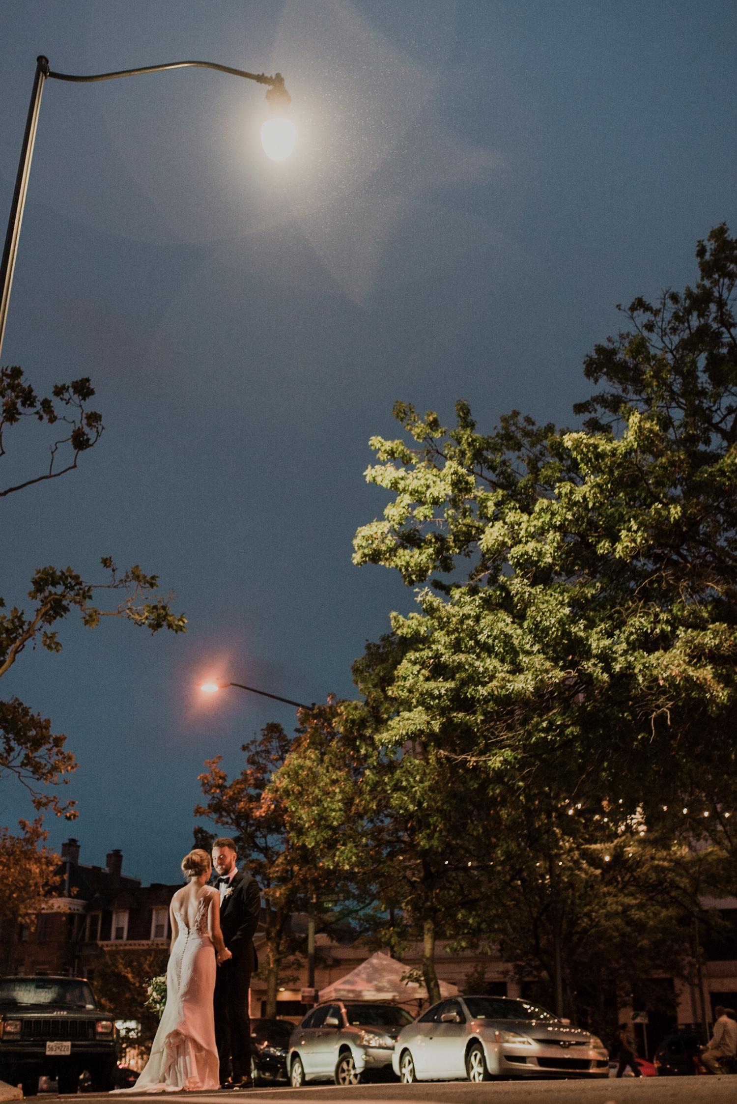 dc line hotel underneath street lamp wedding
