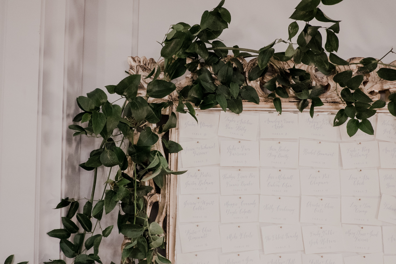 washington dc line hotel placecard greenery wedding reception inspiration