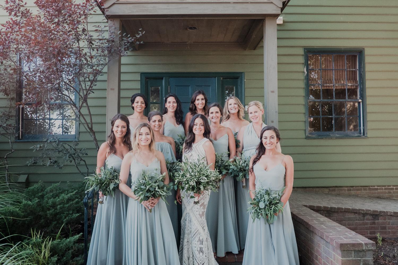 bridesmaids formal portrait at chesapeake bay maritime museum