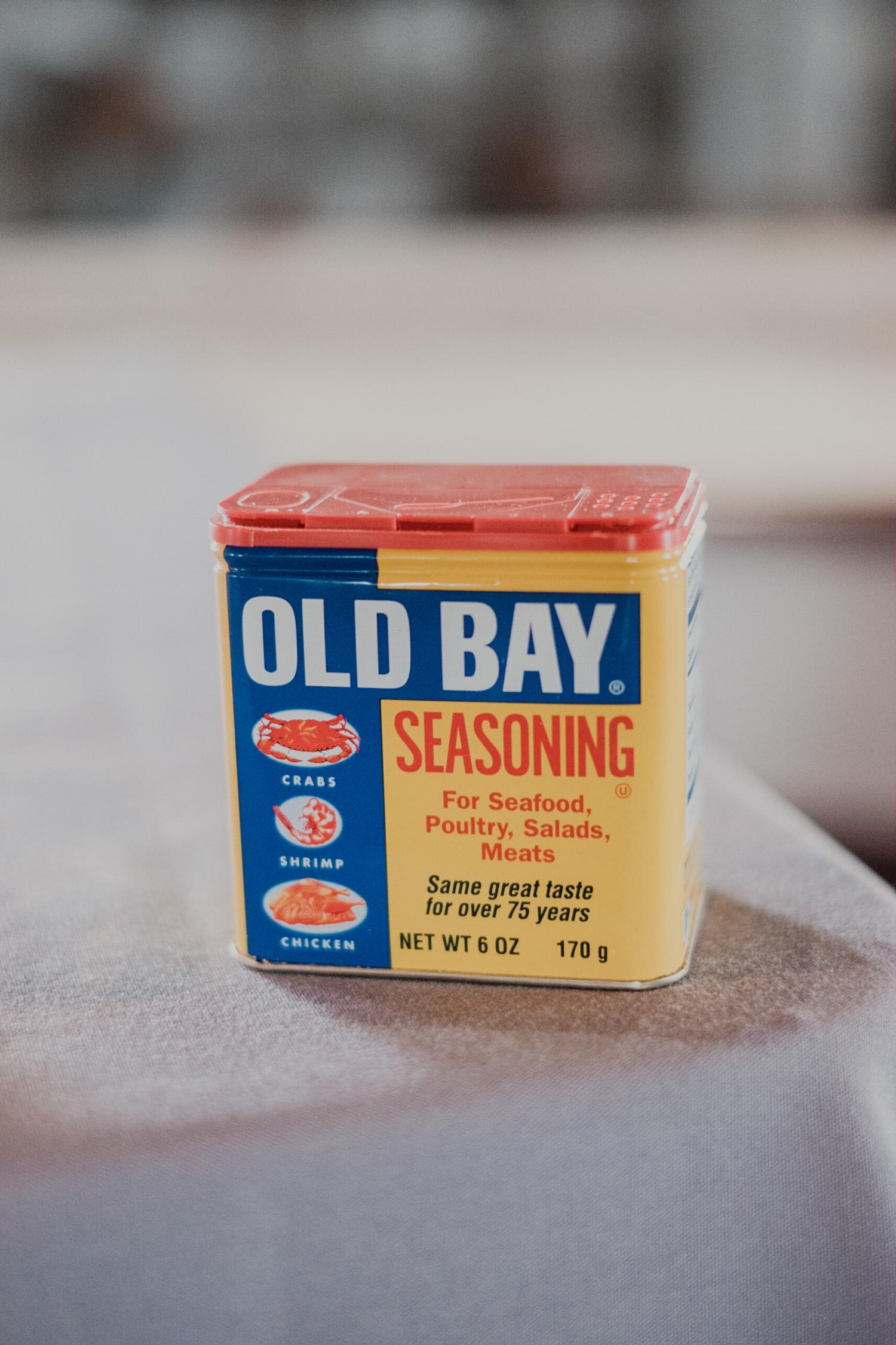 Old Bay seasoning at cocktail hour for Chesapeake Bay wedding