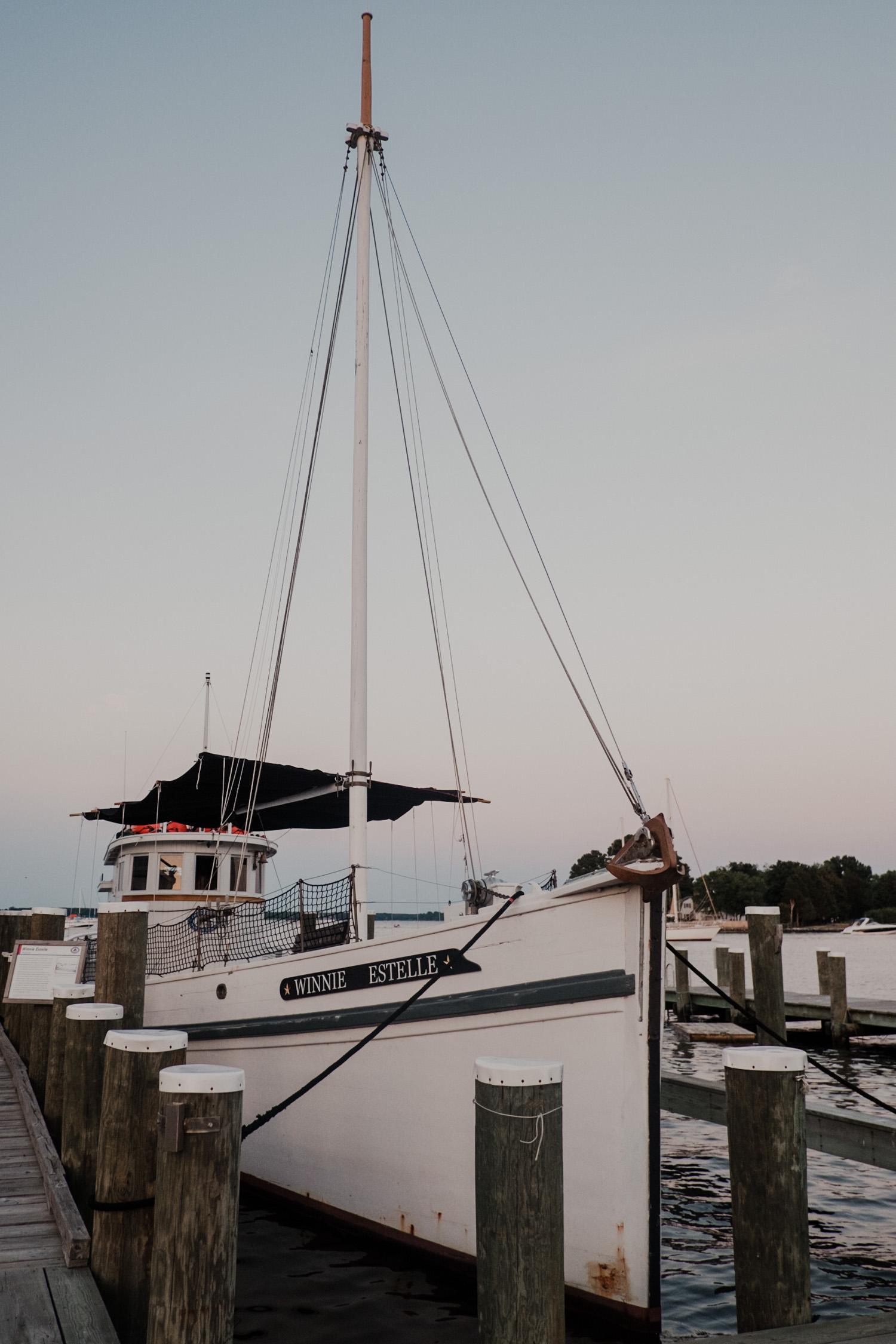 chesapeake bay maritime museum sailboat at the docks