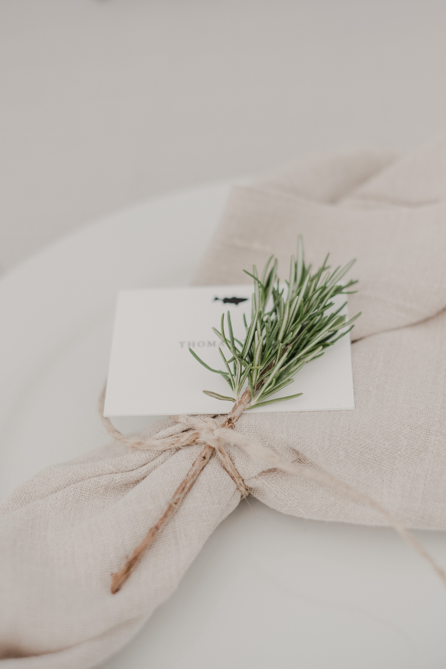chesapeake bay maritime museum napkin and place card setting on plates