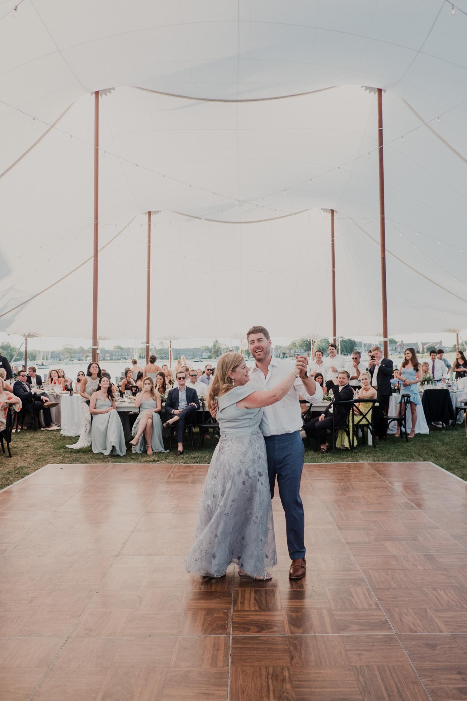 mother son dance at Chesapeake bay wedding
