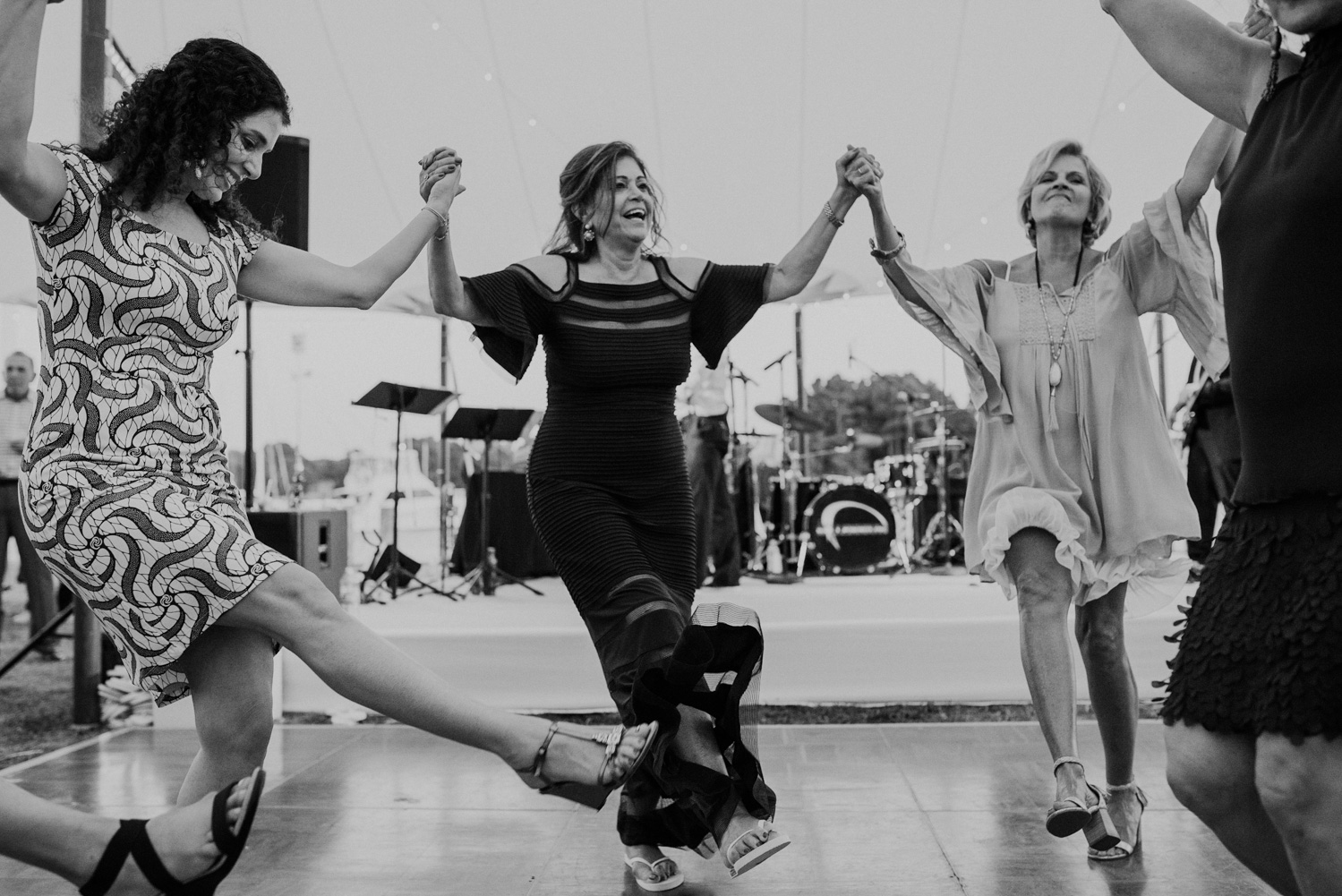 women dance during Jewish hora