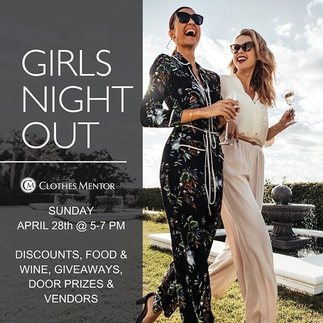 @thestyletteexperience will be giving a style presentation at @clothesmentorcolumbiamd during their Girls Night Out Event on Sunday, April 28th from 5-7pm! _______________ Come sip, shop, and learn some styling tips and tricks from us! 💥💥💥 ___________  PLUS, we'll be having a #CONTEST. Winner receives  a free Style Starter Kit!  _______  We're going to have a lot of fun. You don't want to miss it ❤️