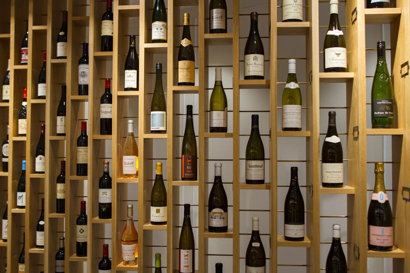 Wine at our London cheese shop