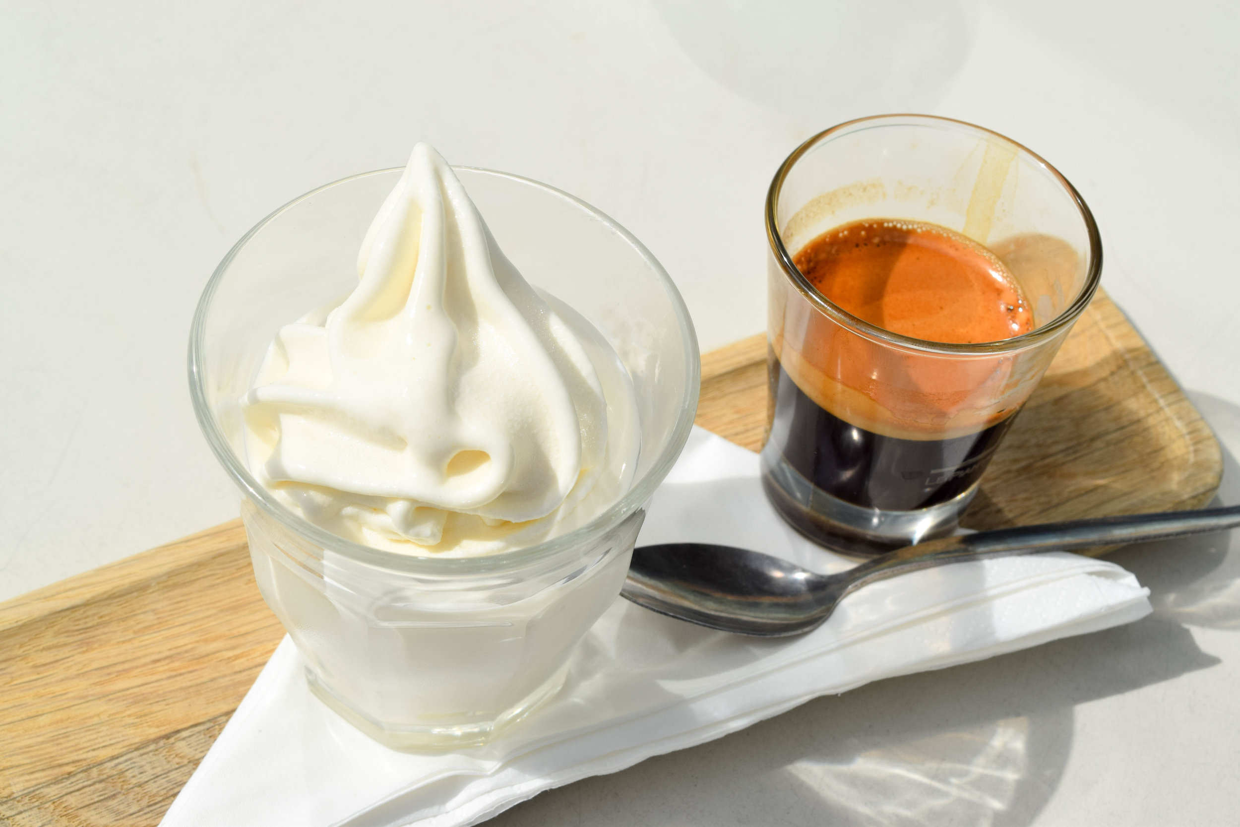 Affogato at our Bath cheese shop