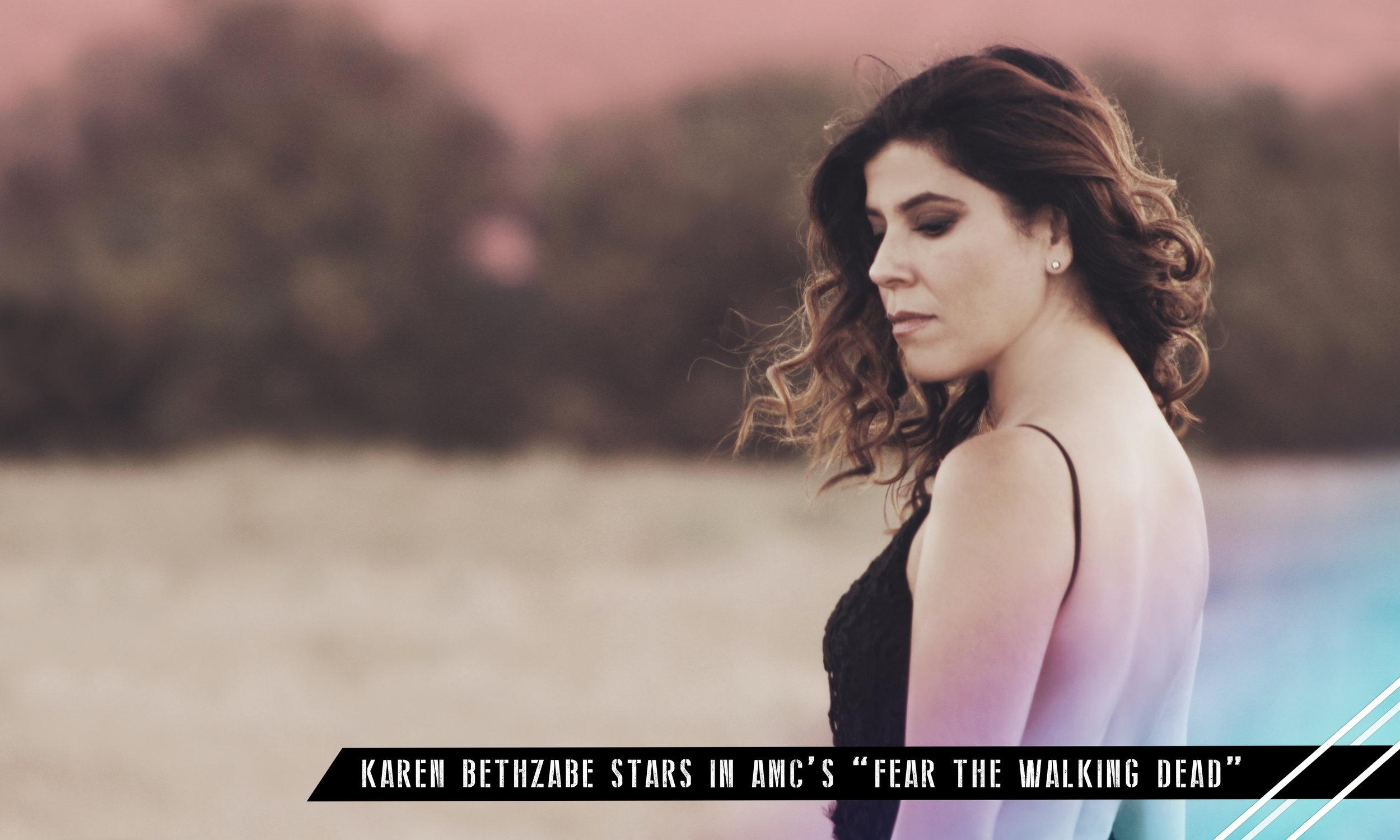 "Read an exclusive #GasMaskMagazine interview on ""Fear the Walking Dead"" Actress,Karen Bethzabe."