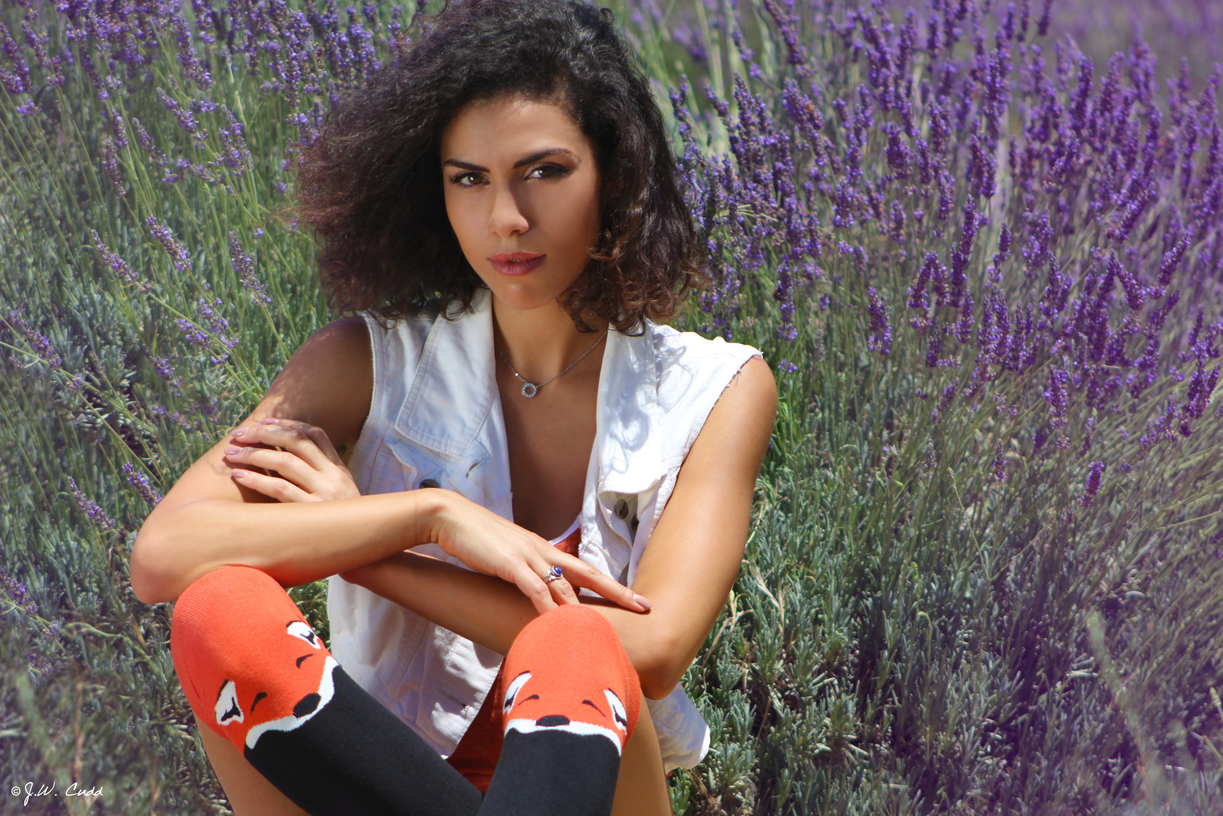 Actress  Andrea Sixtos   (East Los High, Colony, West LA)  wears the  Socksmith.com  knee-high FOXES.