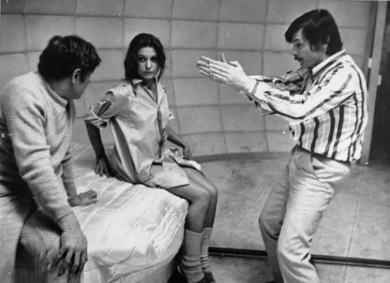 Andrei Tarkovsky on the set of Solaris (1972).
