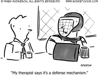 defensive expression