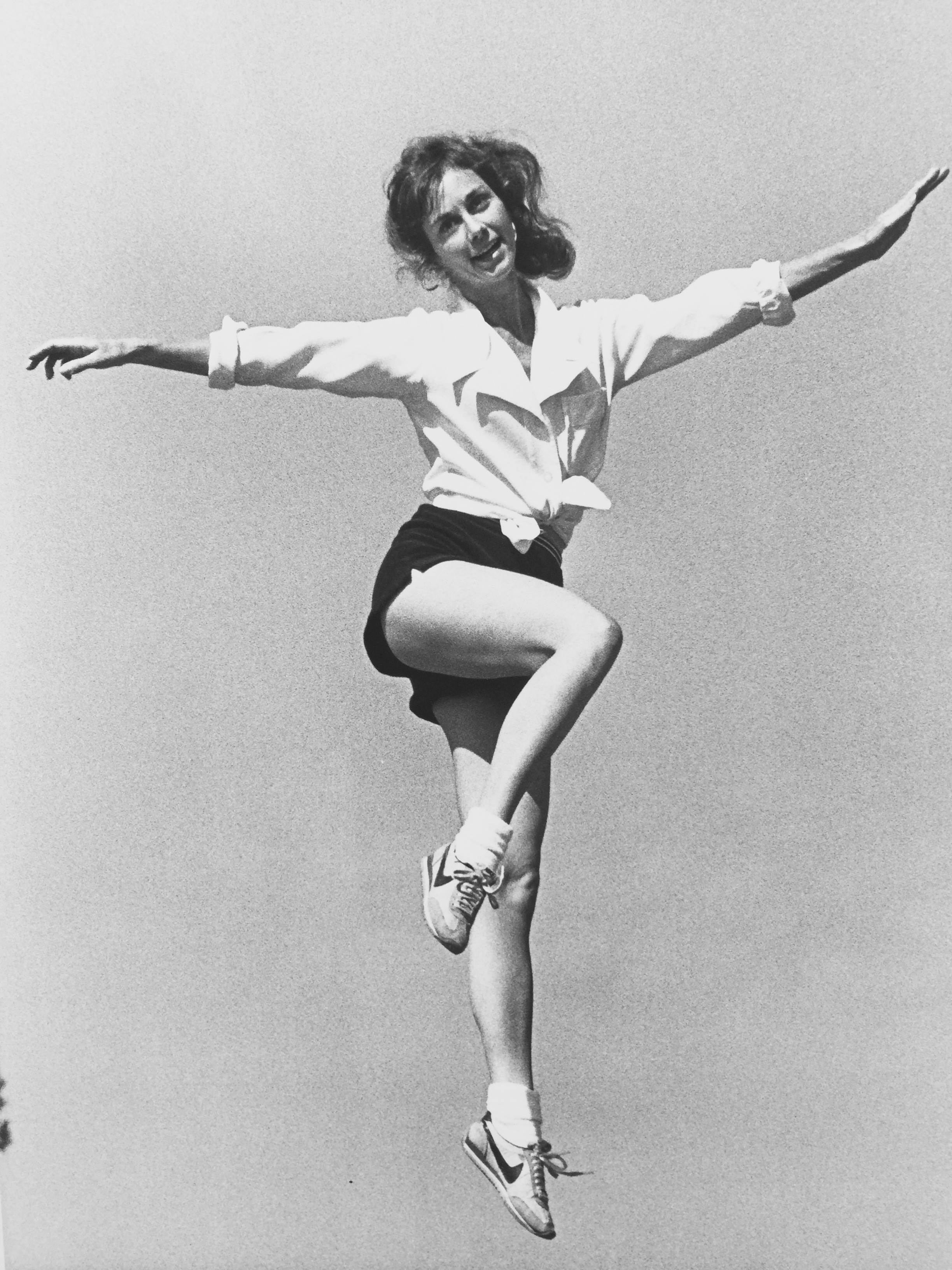 Promo photo for my Dance Alive Aerobics classes, c 1978. Watch out Jane Fonda!
