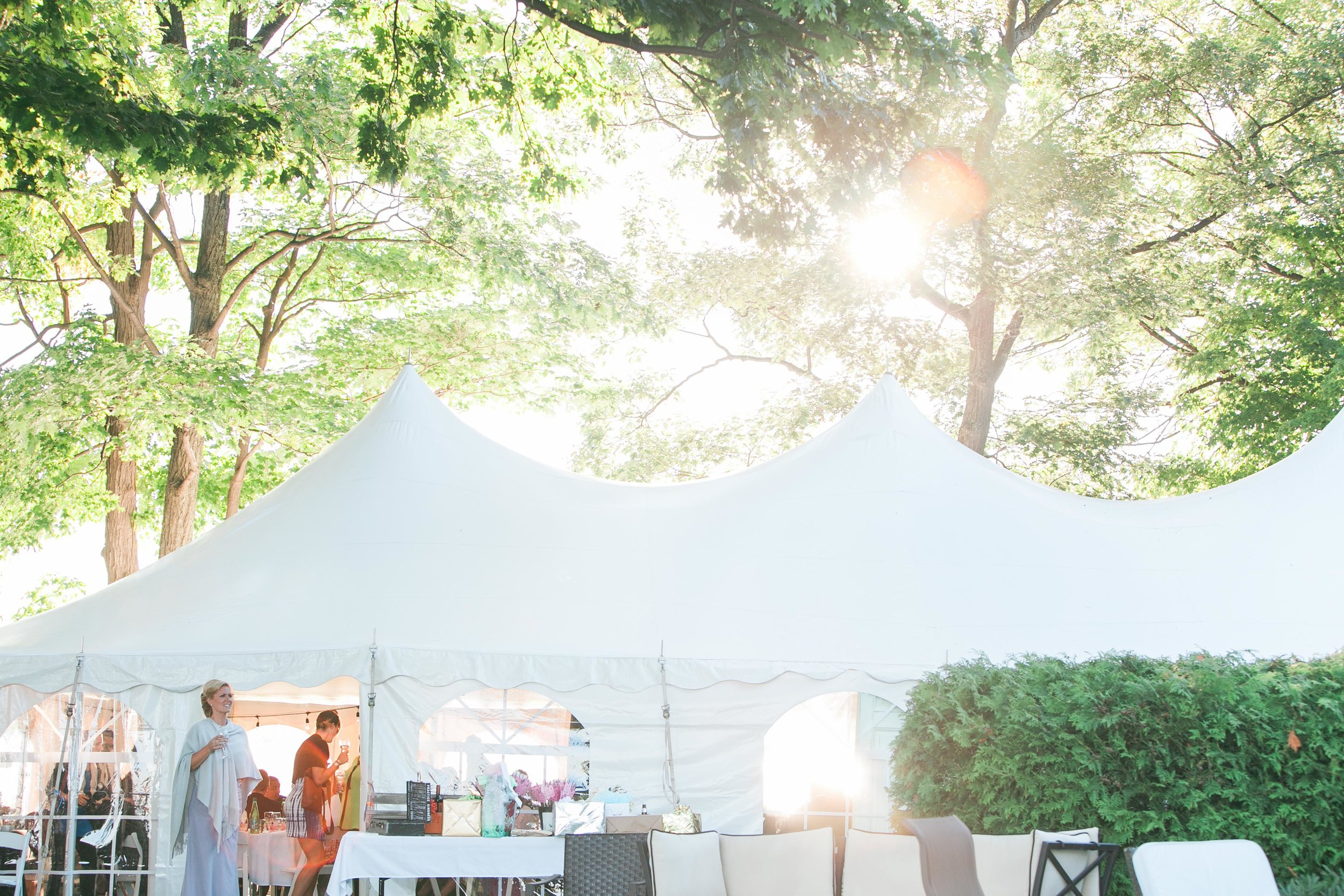 Tented wedding in Muskoka