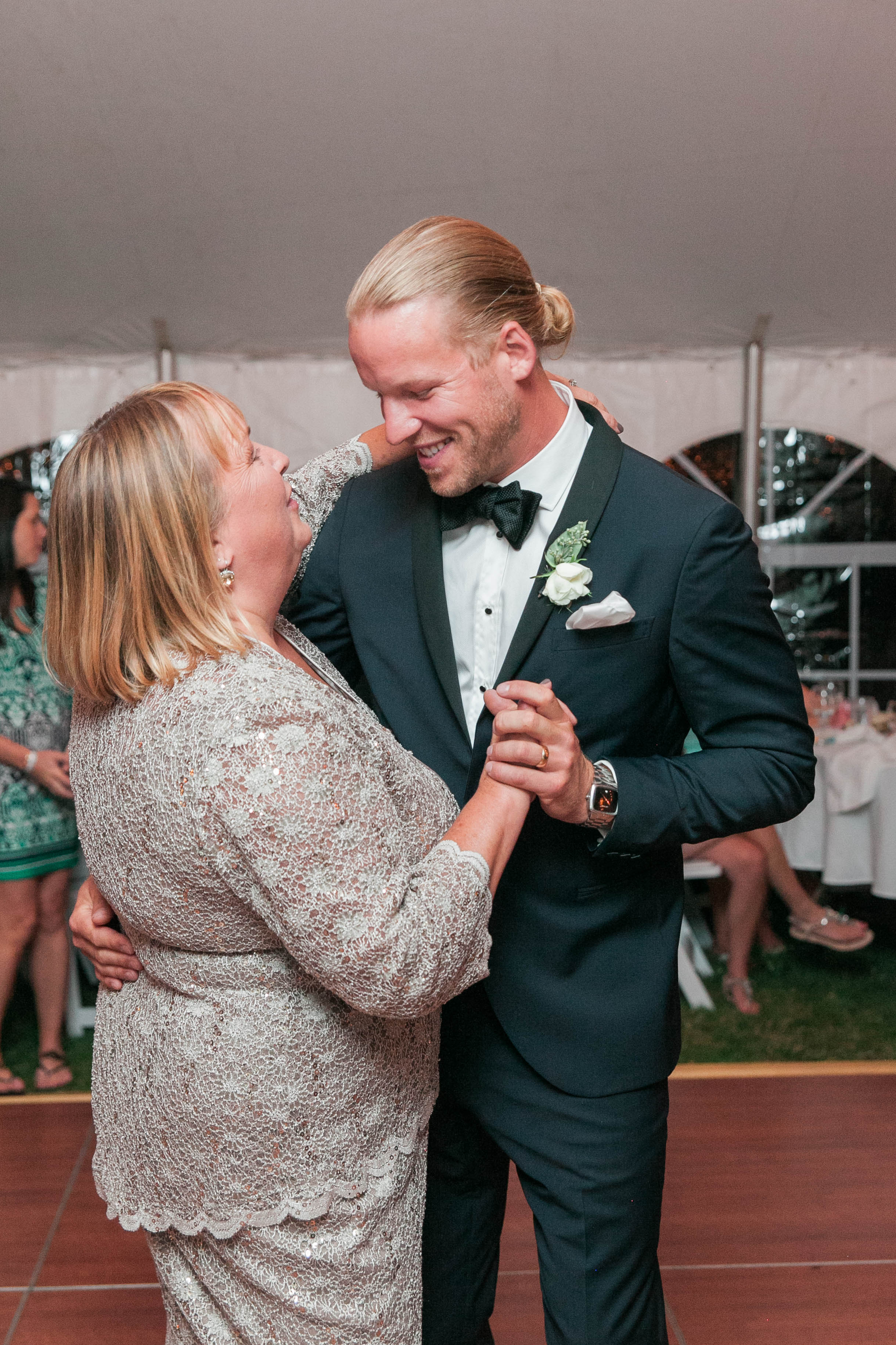 Mother son dance at Muskoka wedding