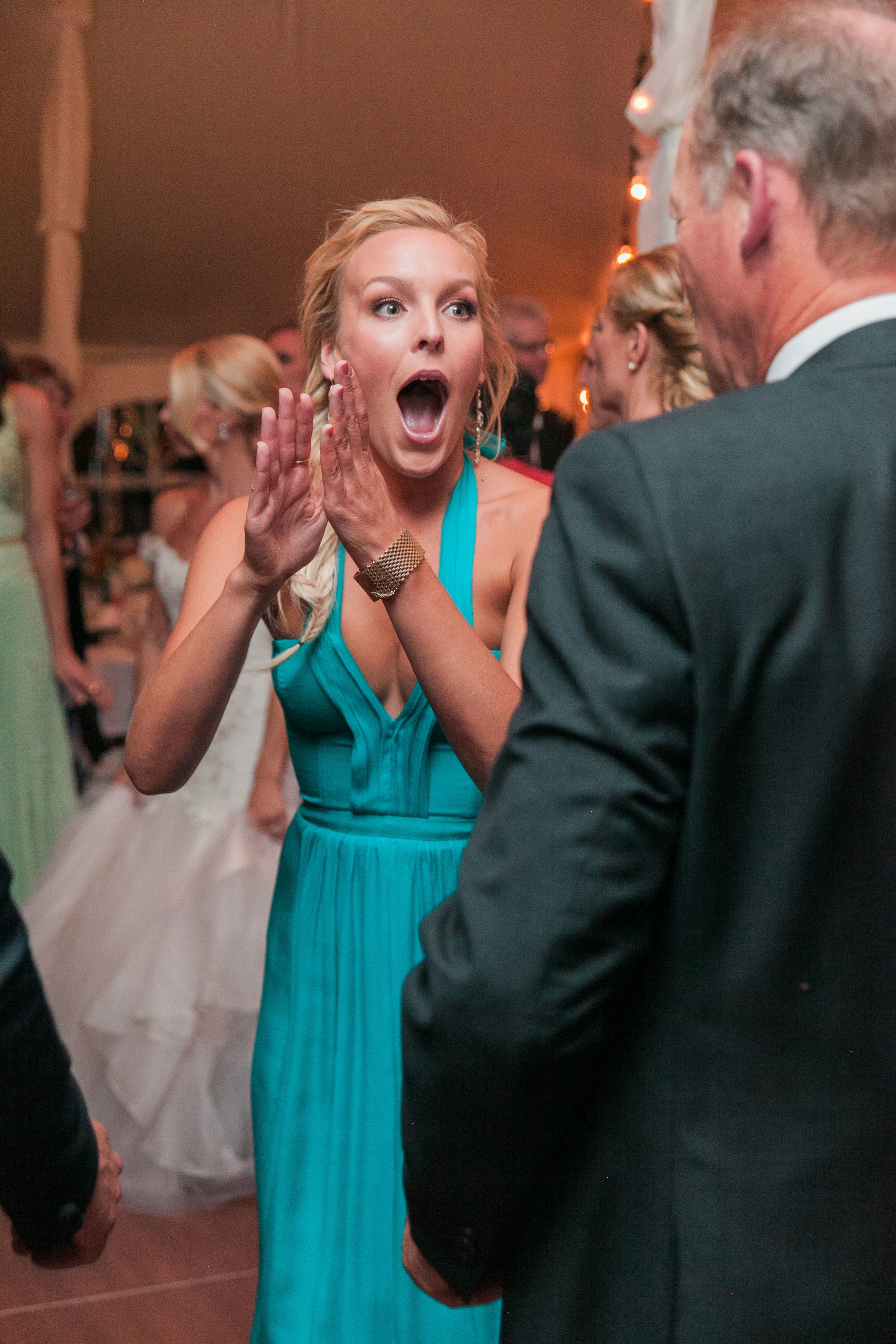 Dancing at tented Muskoka wedding