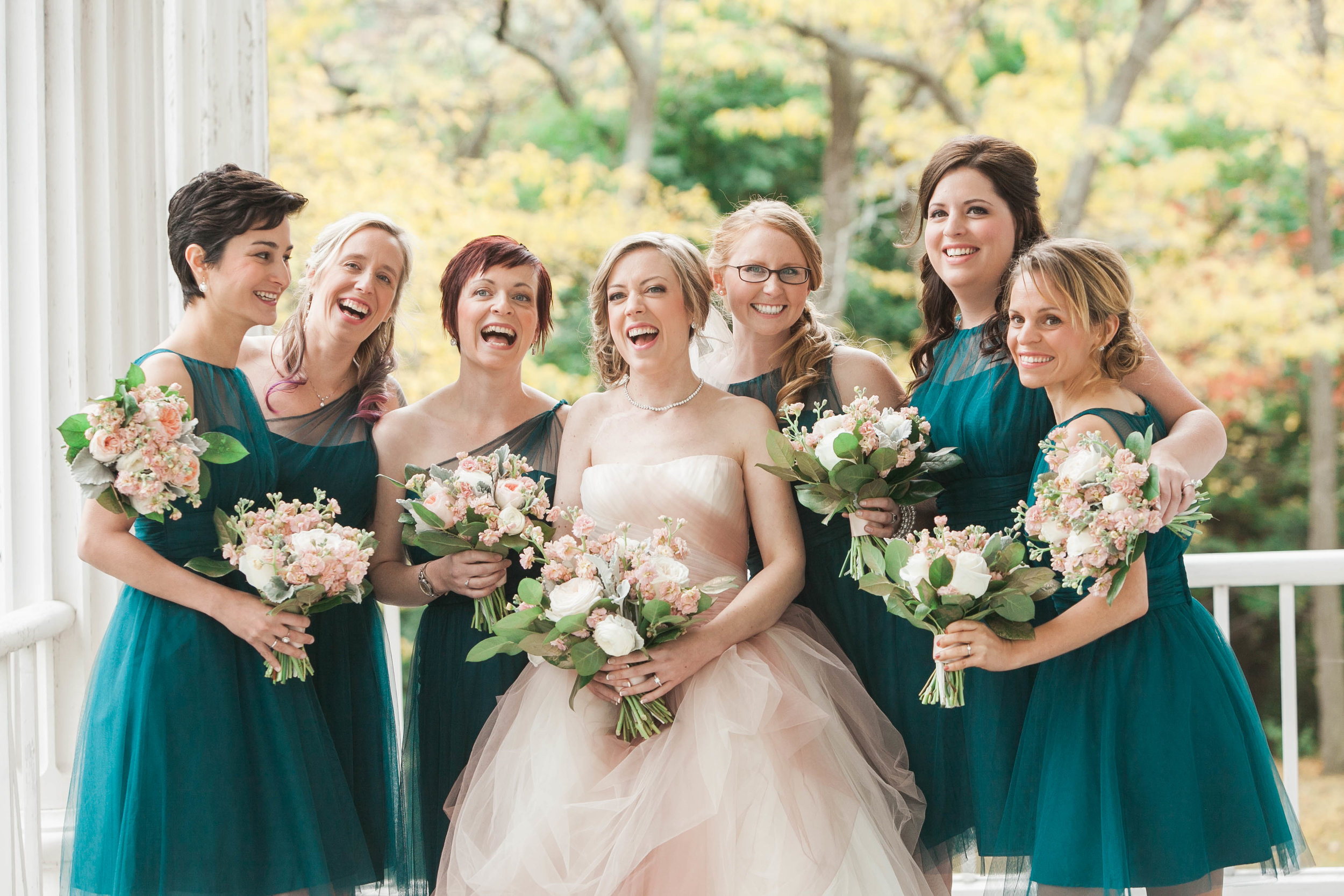 Bridesmaids photo at Willowbank Estate