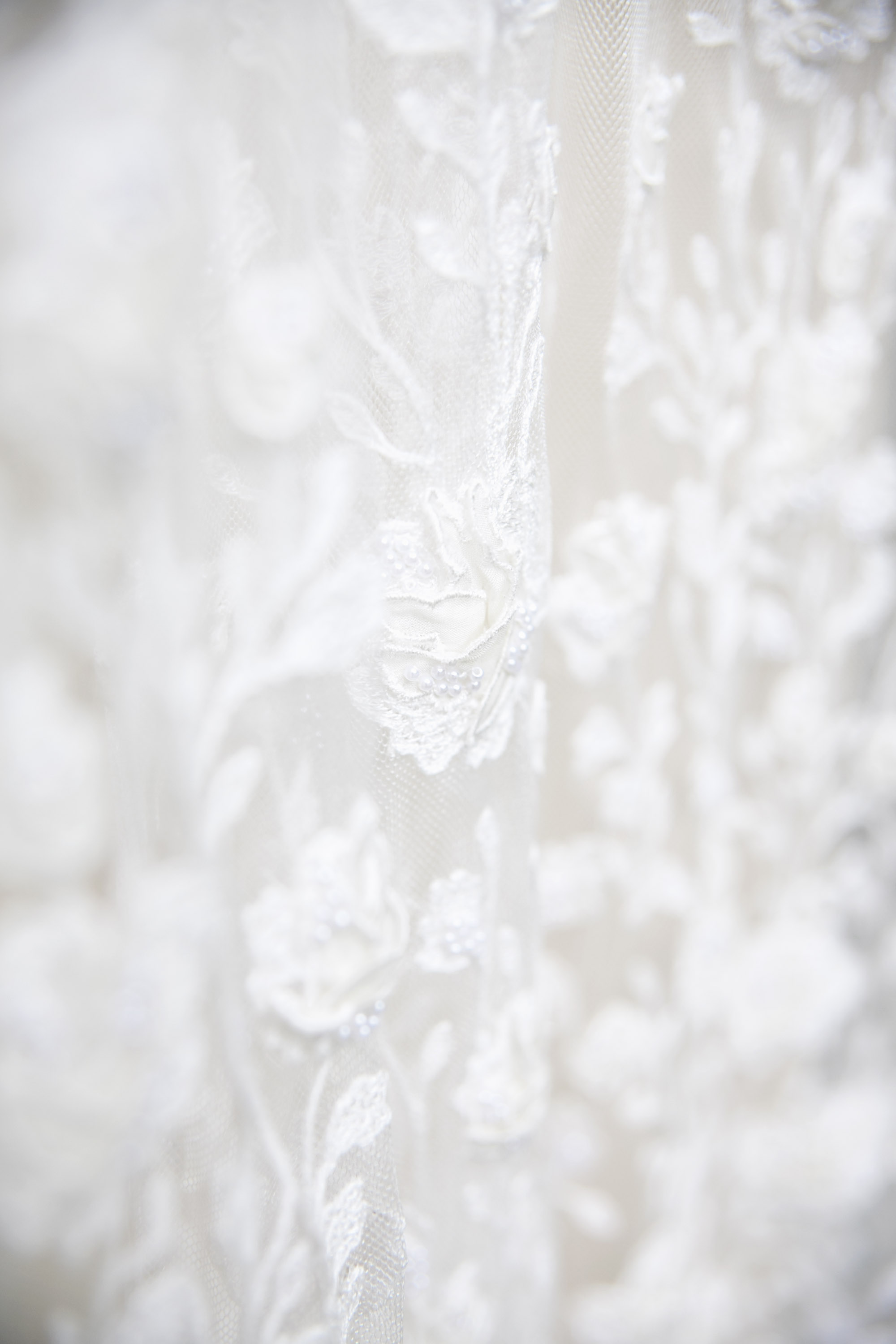 Floral lace off white dress by BHLDN