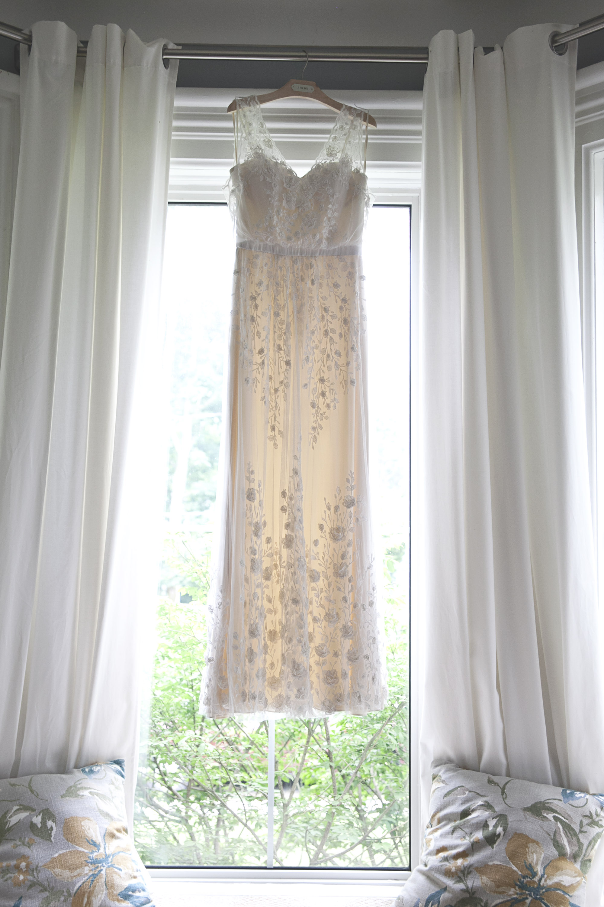 Floral wedding dress by BHLDN