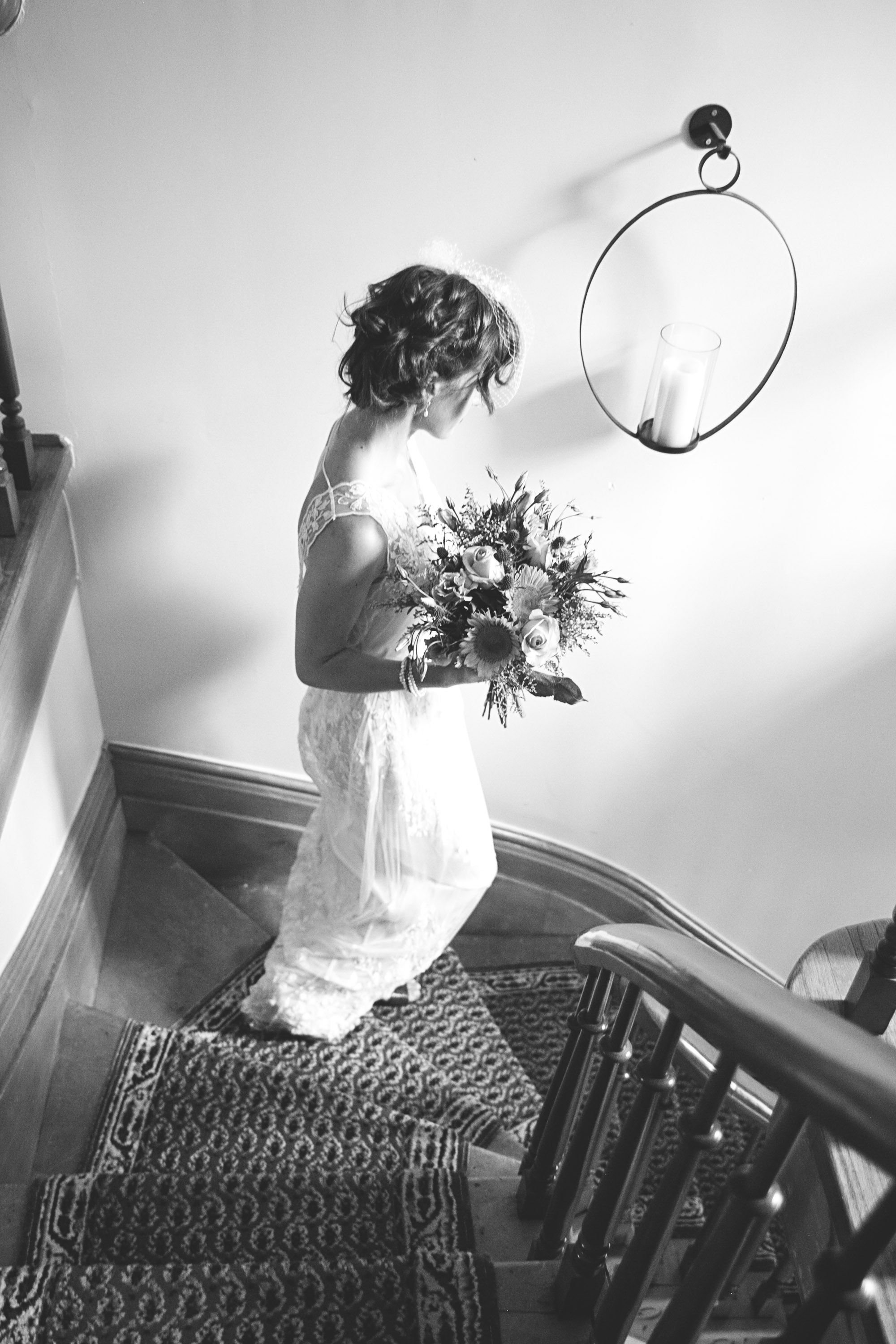 Bride in Ontario heritgage home