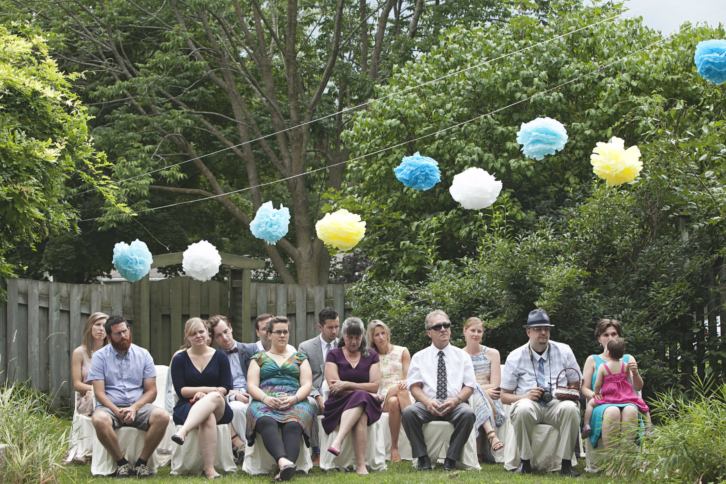 Intimate backyard wedding in Ontario