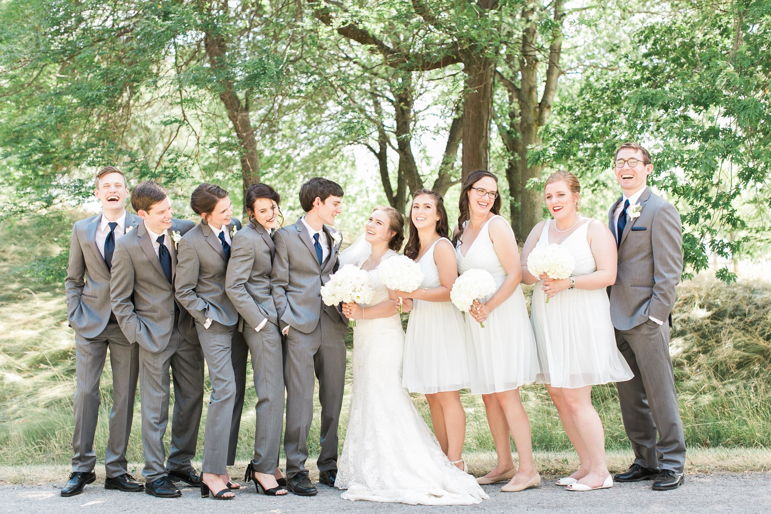 Bridal party photos at Fifty Point Conservation Area in Ontario