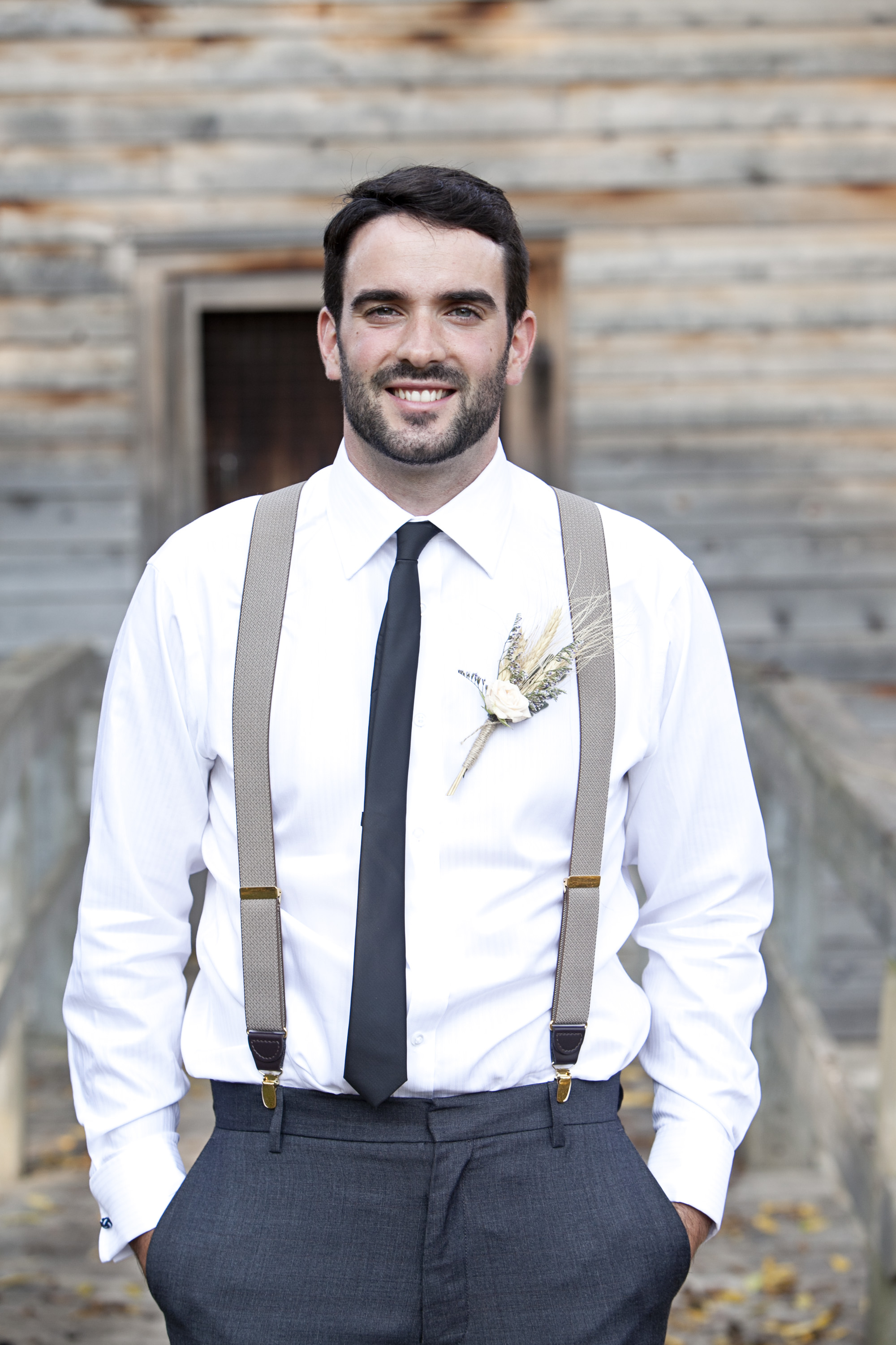 Stylish groom at Ball's Falls wedding in Niagara