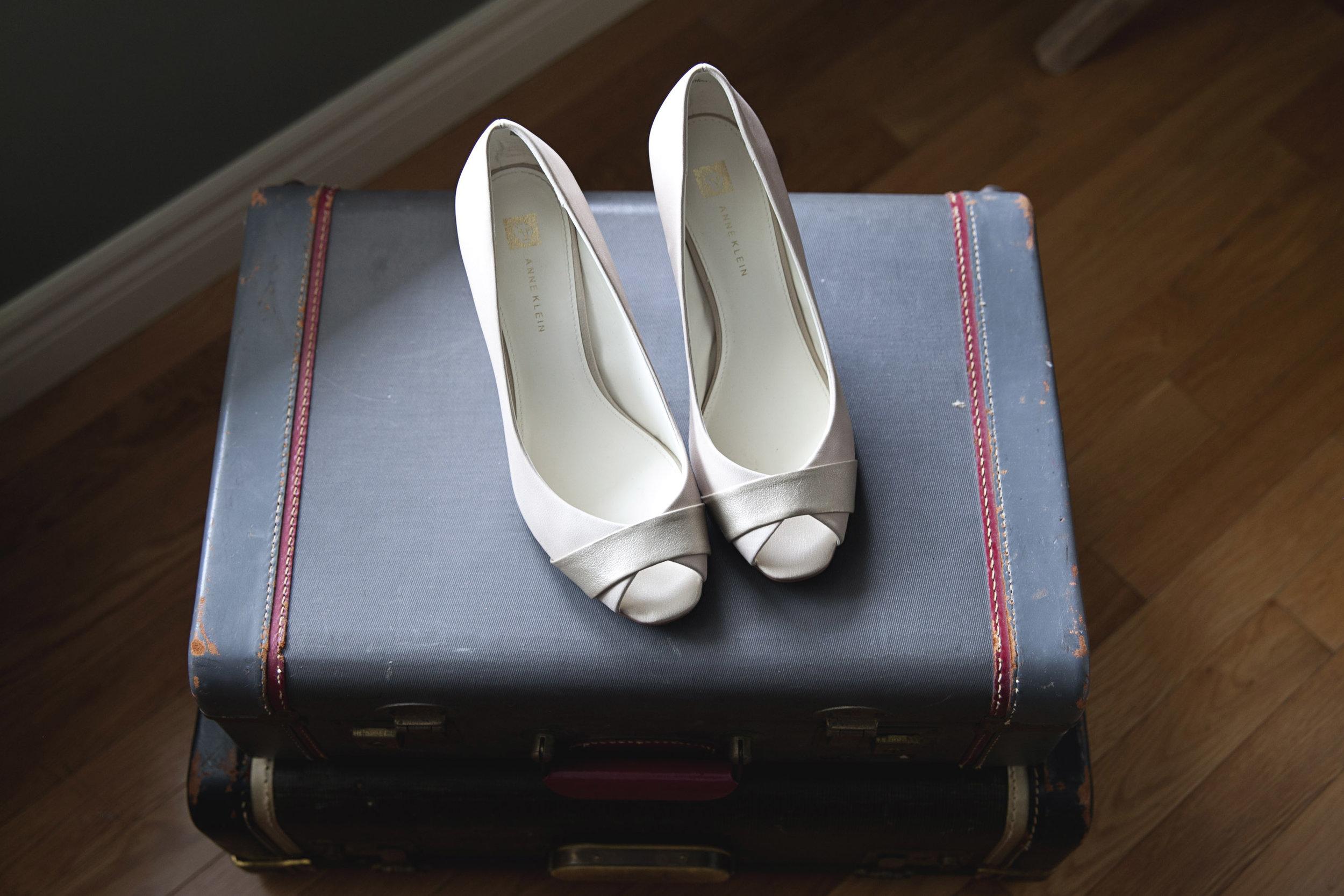 Anne Klein wedding shoes