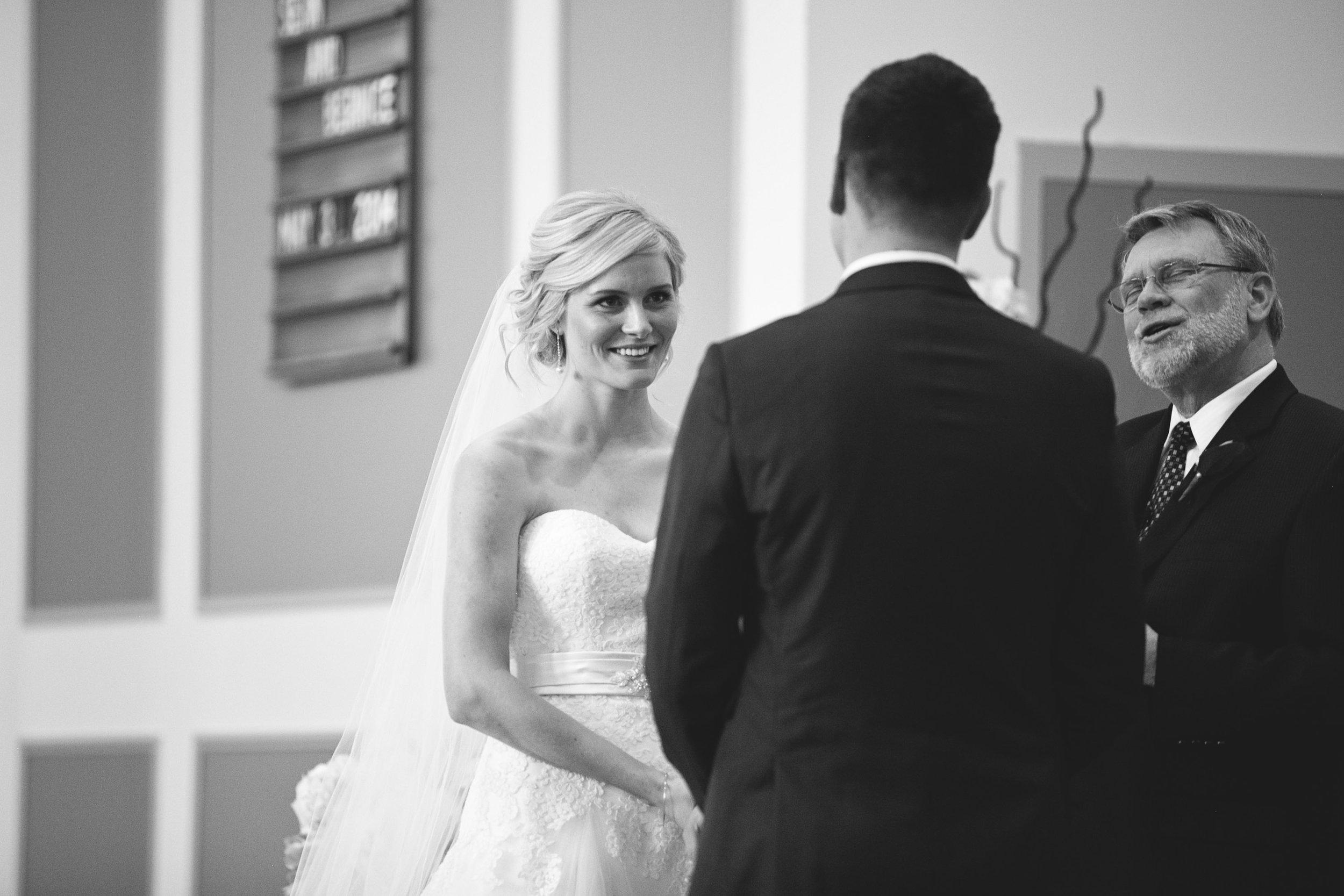 Church wedding ceremony in Hamilton, Ontario
