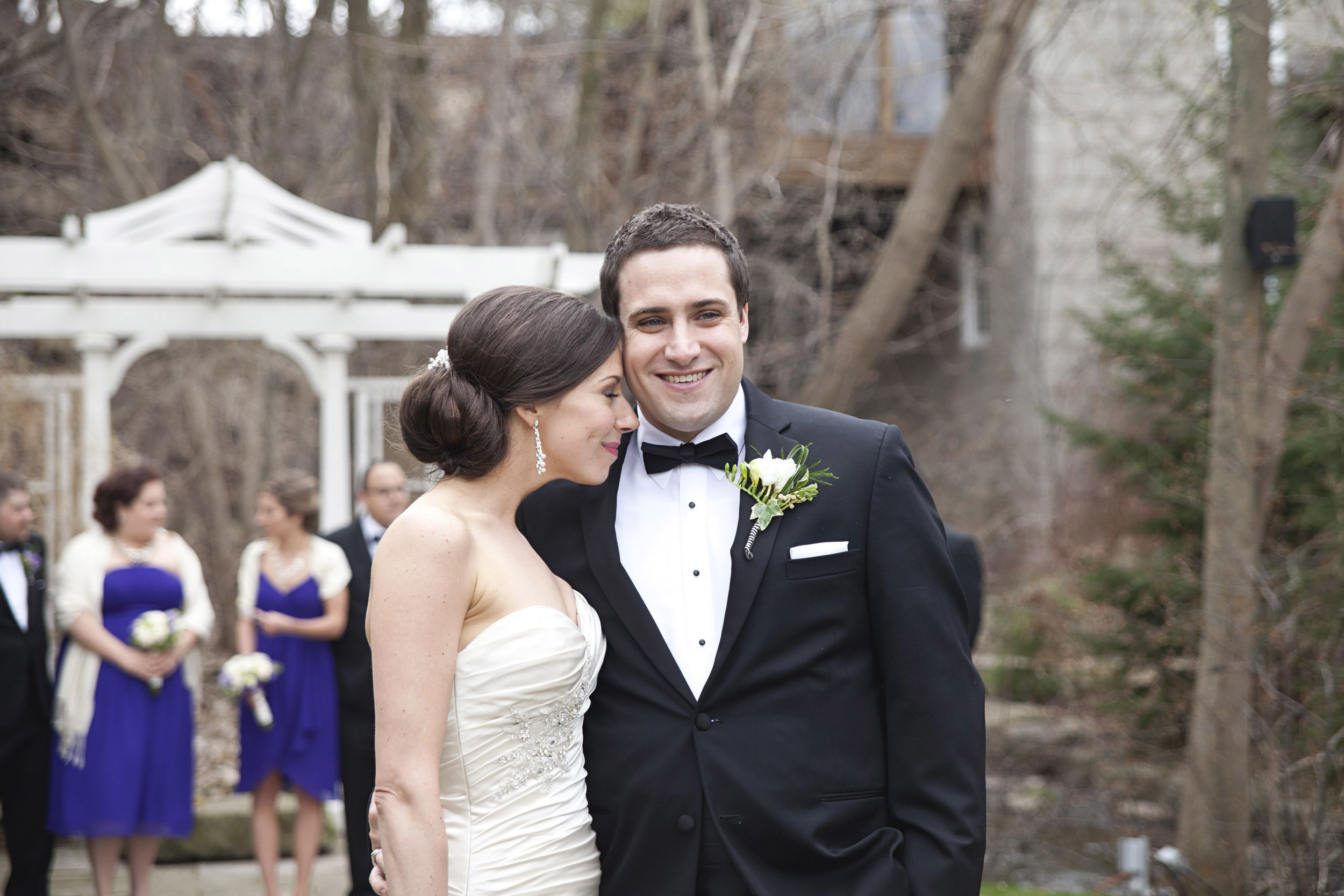 Bridal photos at Ancaster Mill in Hamilton, Ontario