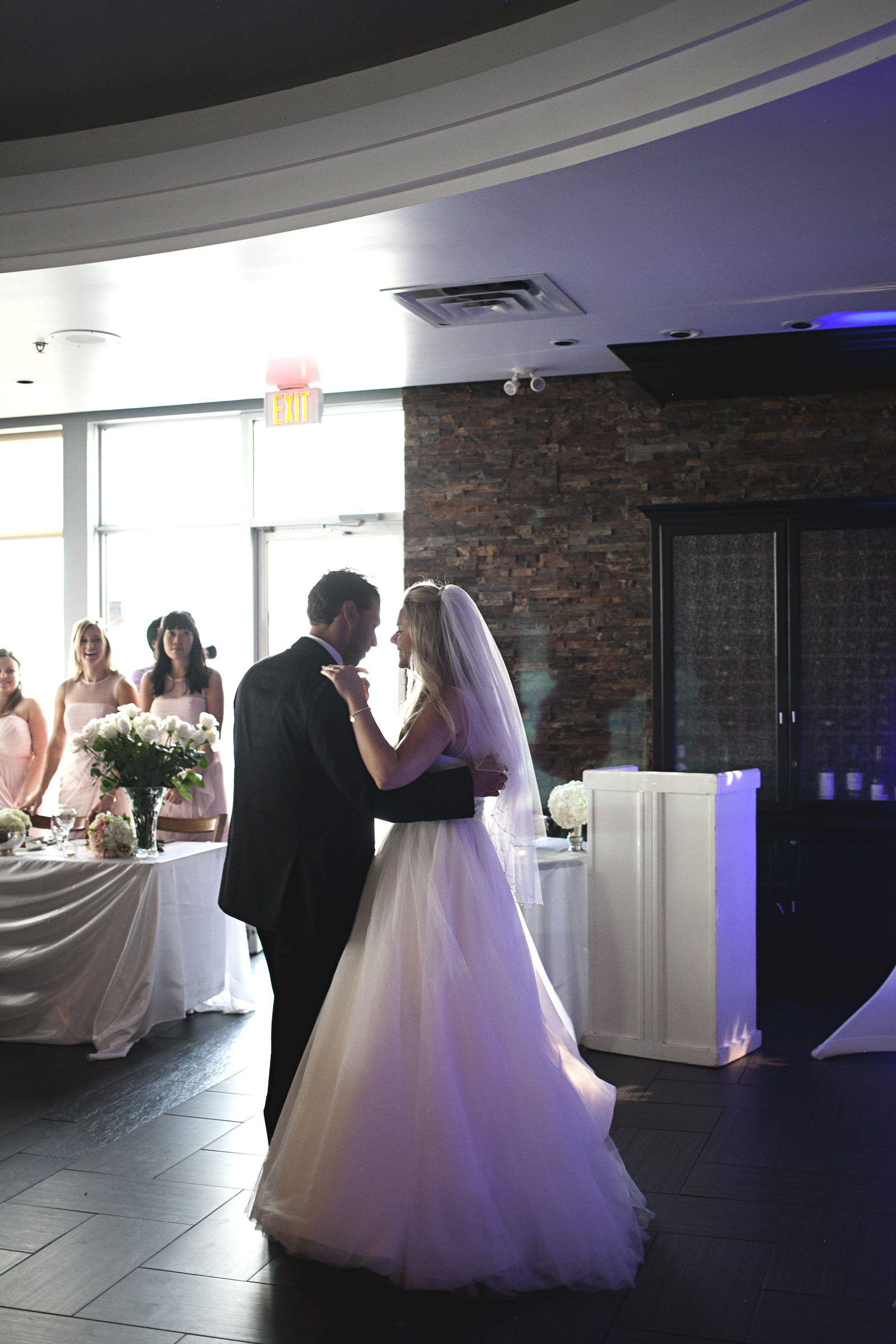 Couple's first dance at Compass Restaurant wedding