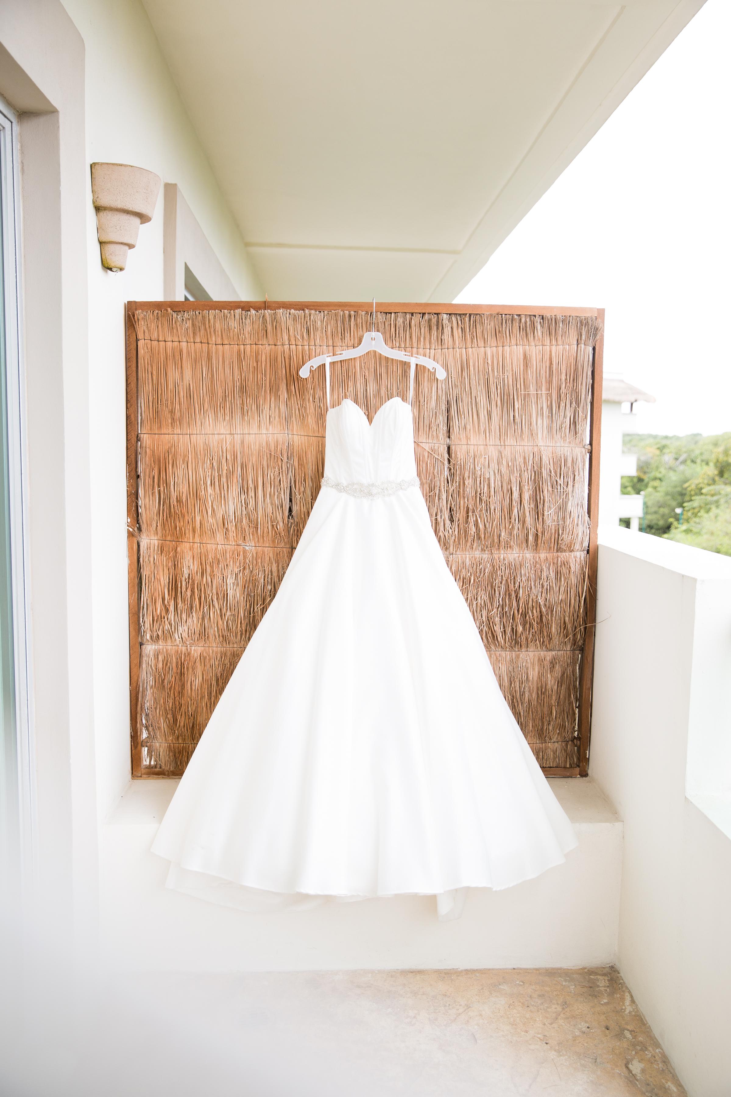 wedding dress in mexico