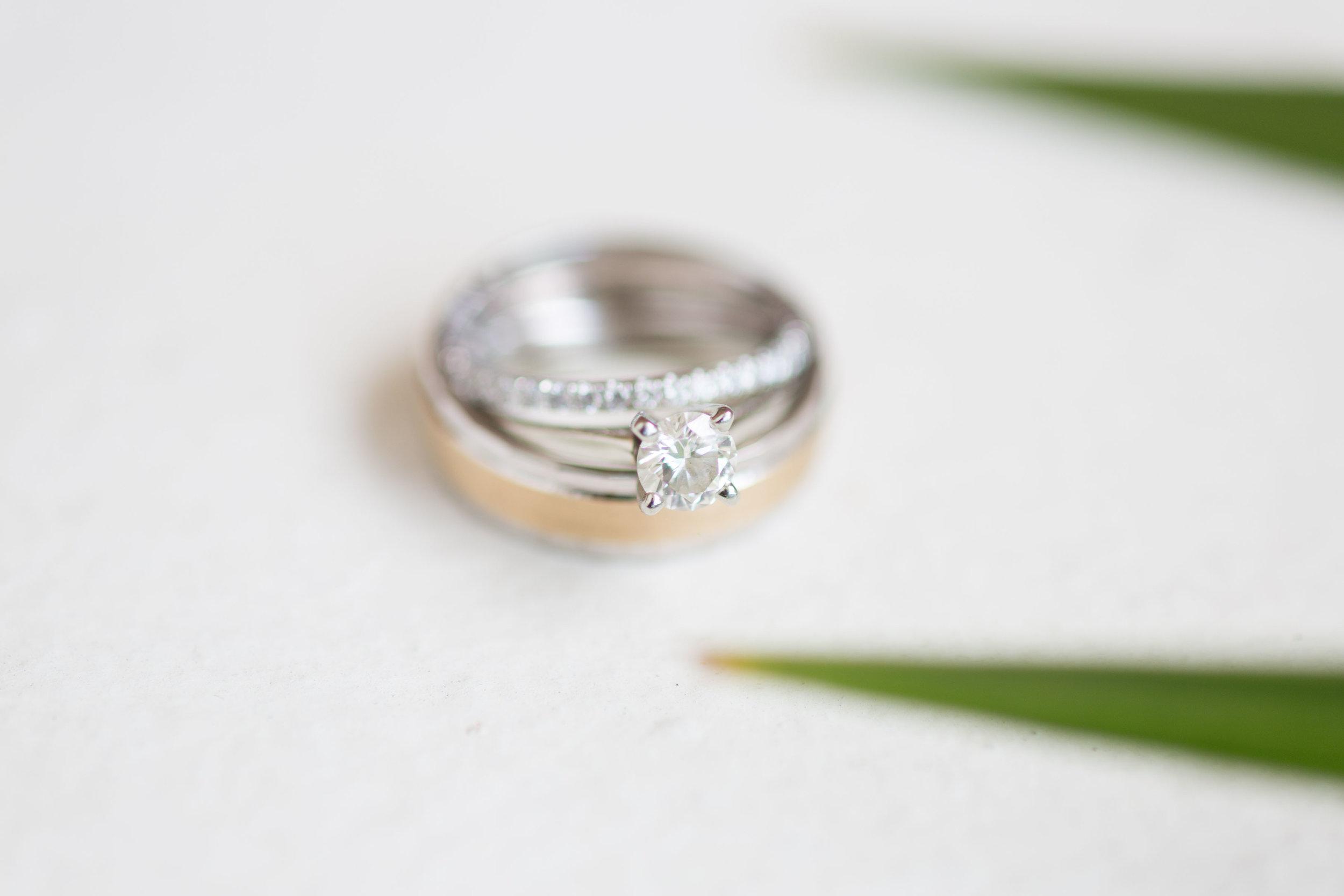 mixed gold wedding rings