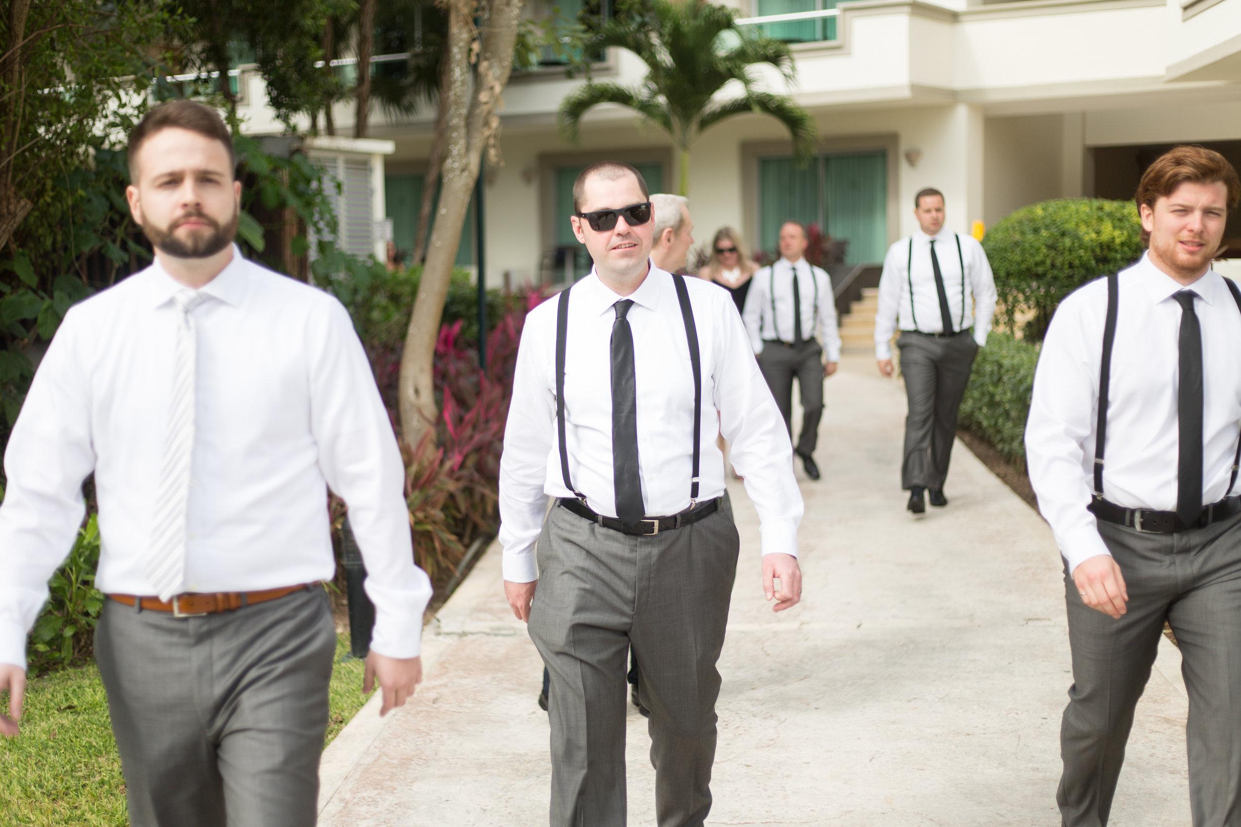 groomsmen in mexico
