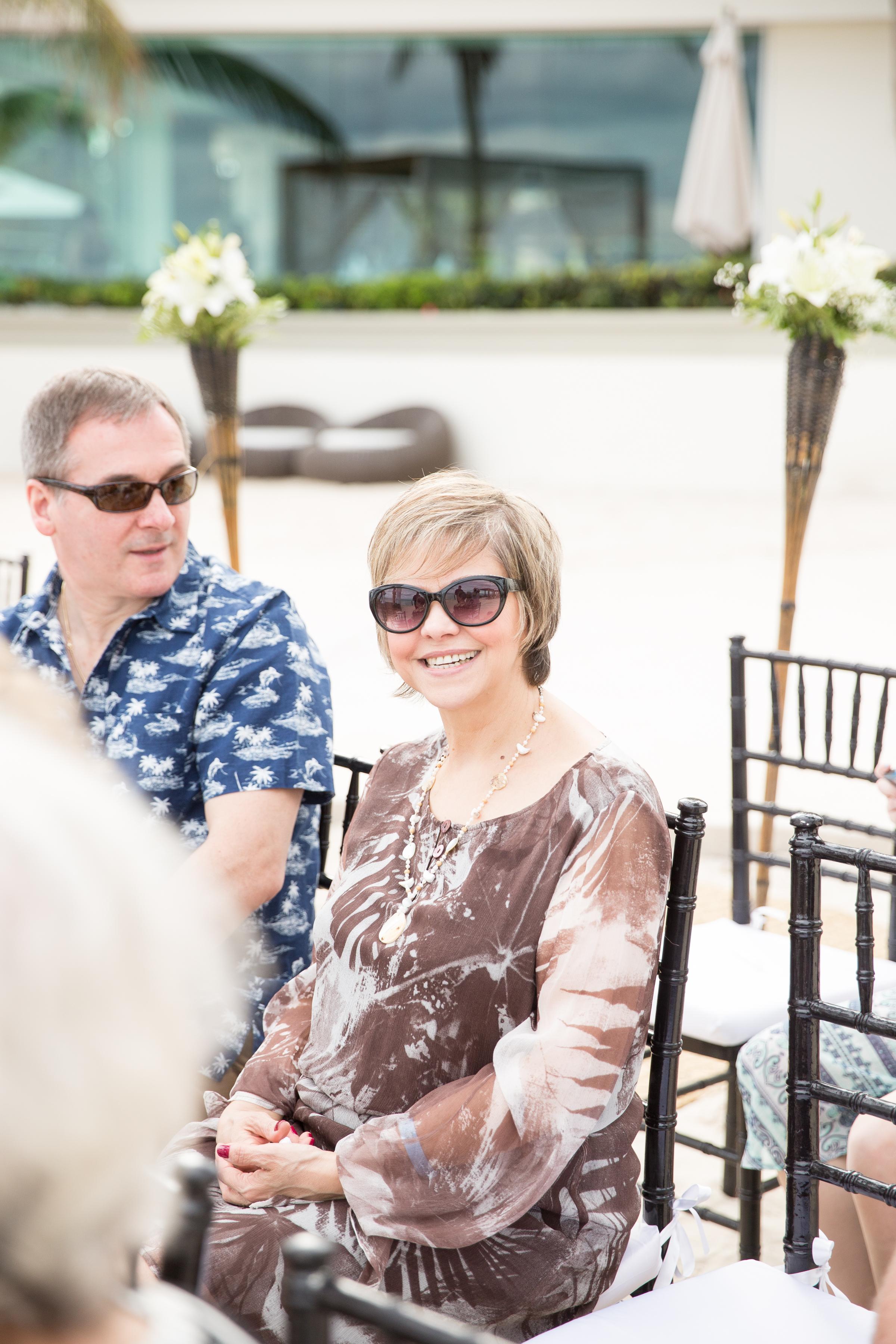 guests at destination wedding